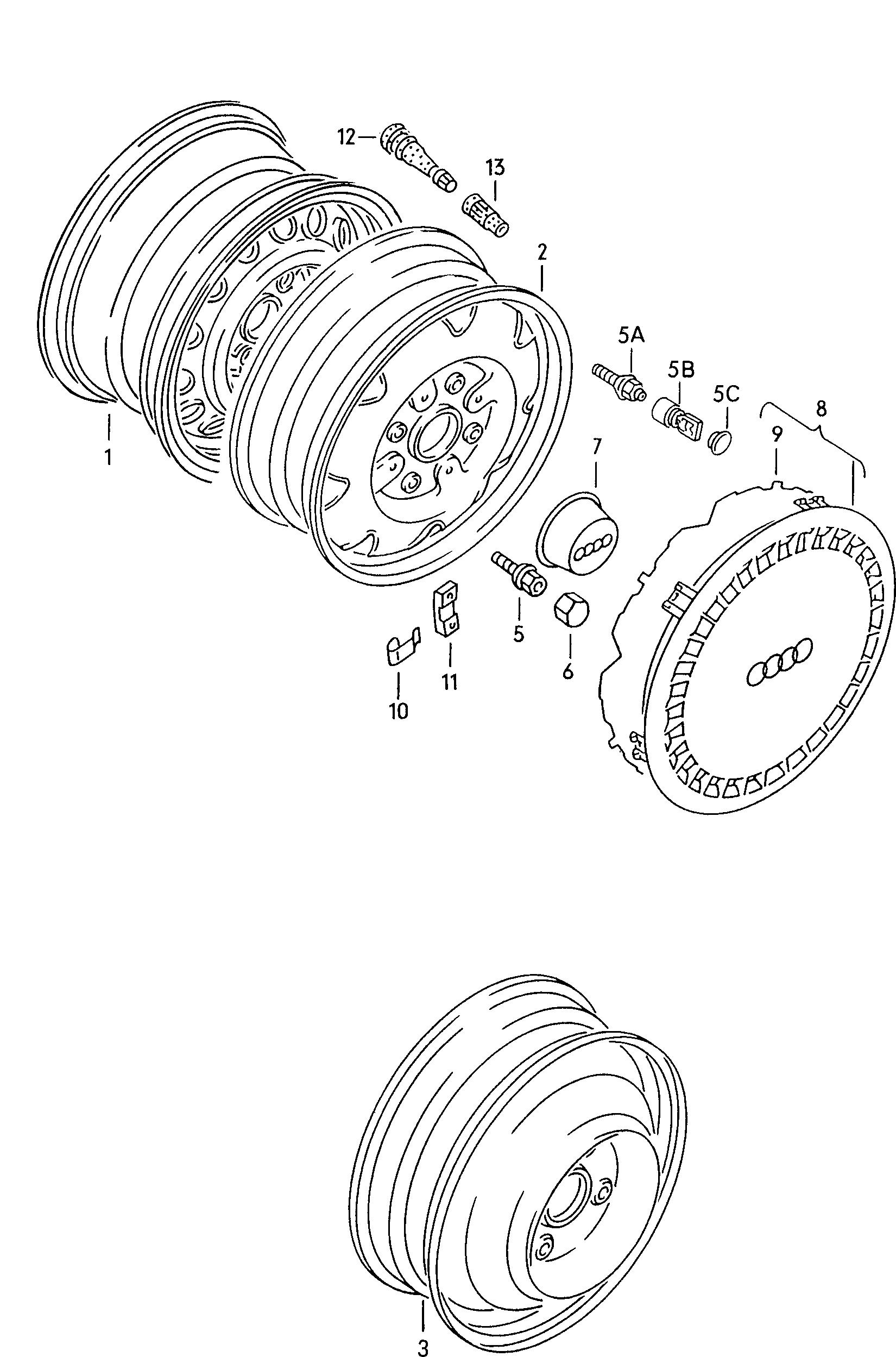 Audi Coupe Europe 1989 Wheels Brakes 60110 Wiring Diagram Parts