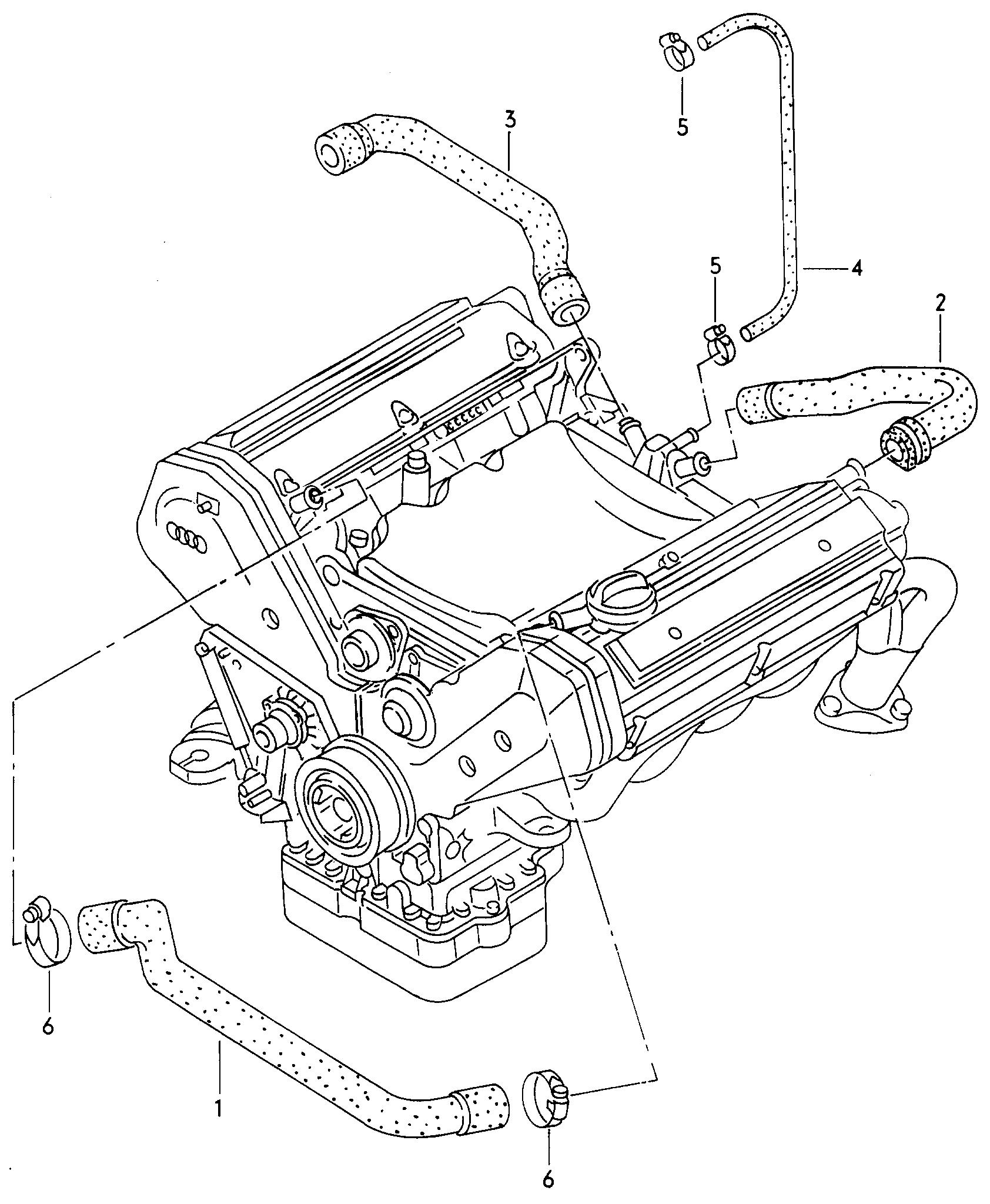 Audi A8 Europe 1999 4d X 004 999 Engine 10397 Diagram Parts
