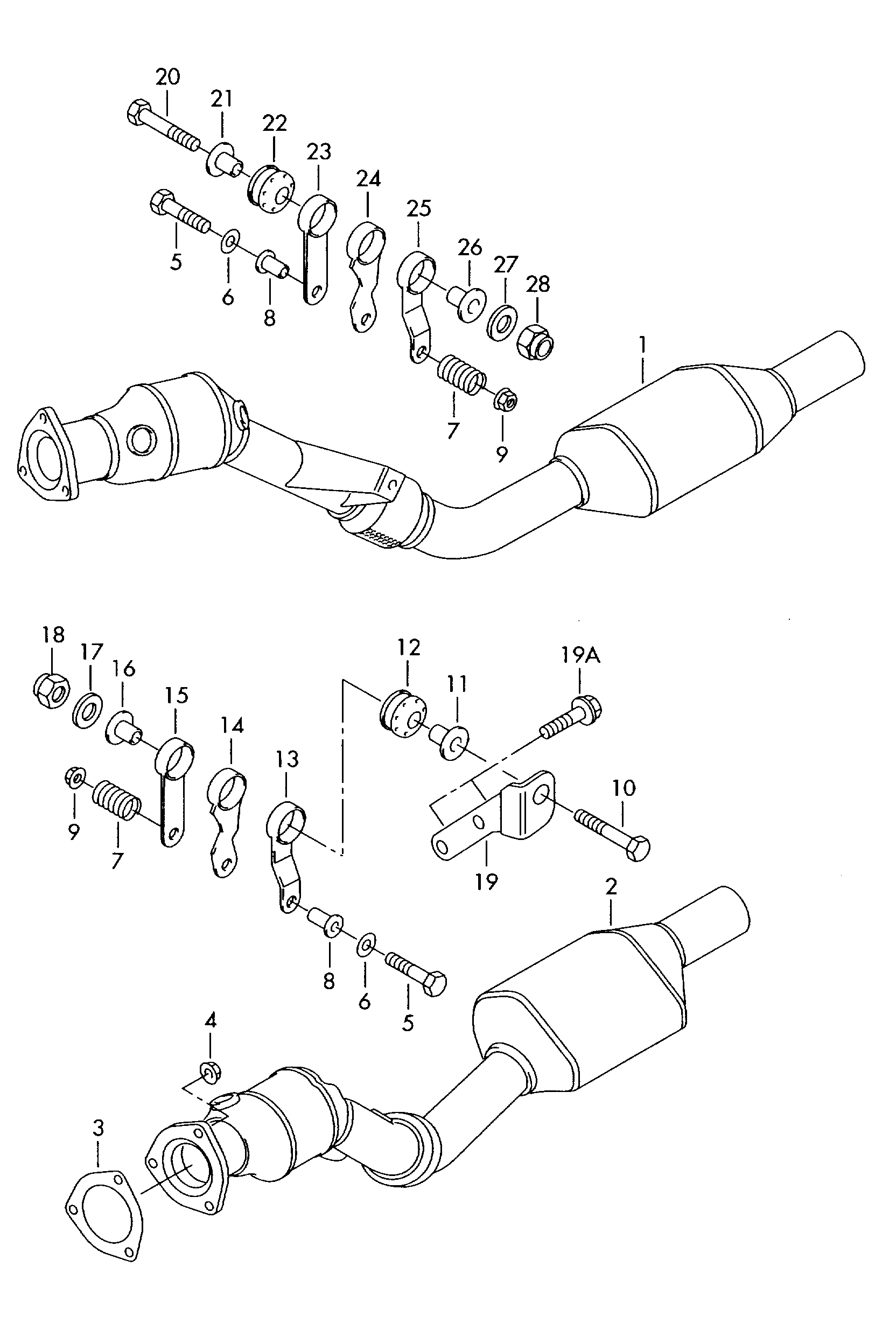 Audi A6 S6 Avant Quattro Europe 2002 Fuel Exhaust Cooling Engine Diagram Parts