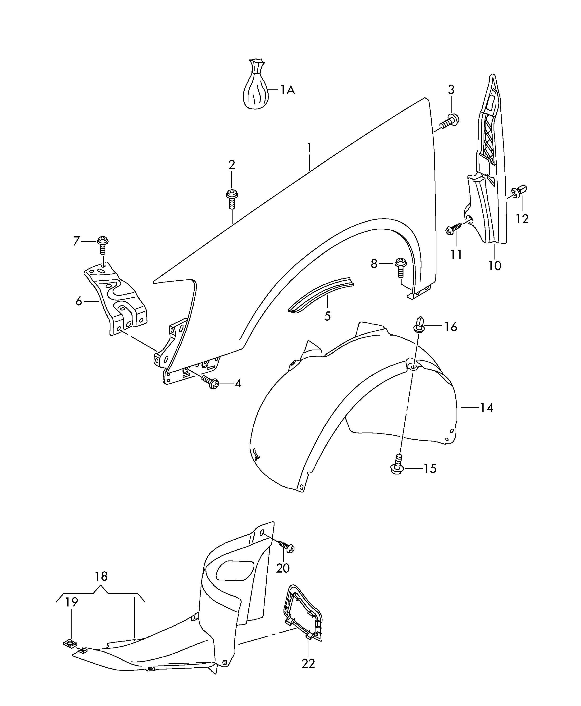 Topran mango motorhaubenentriegelung 114 412 para VW