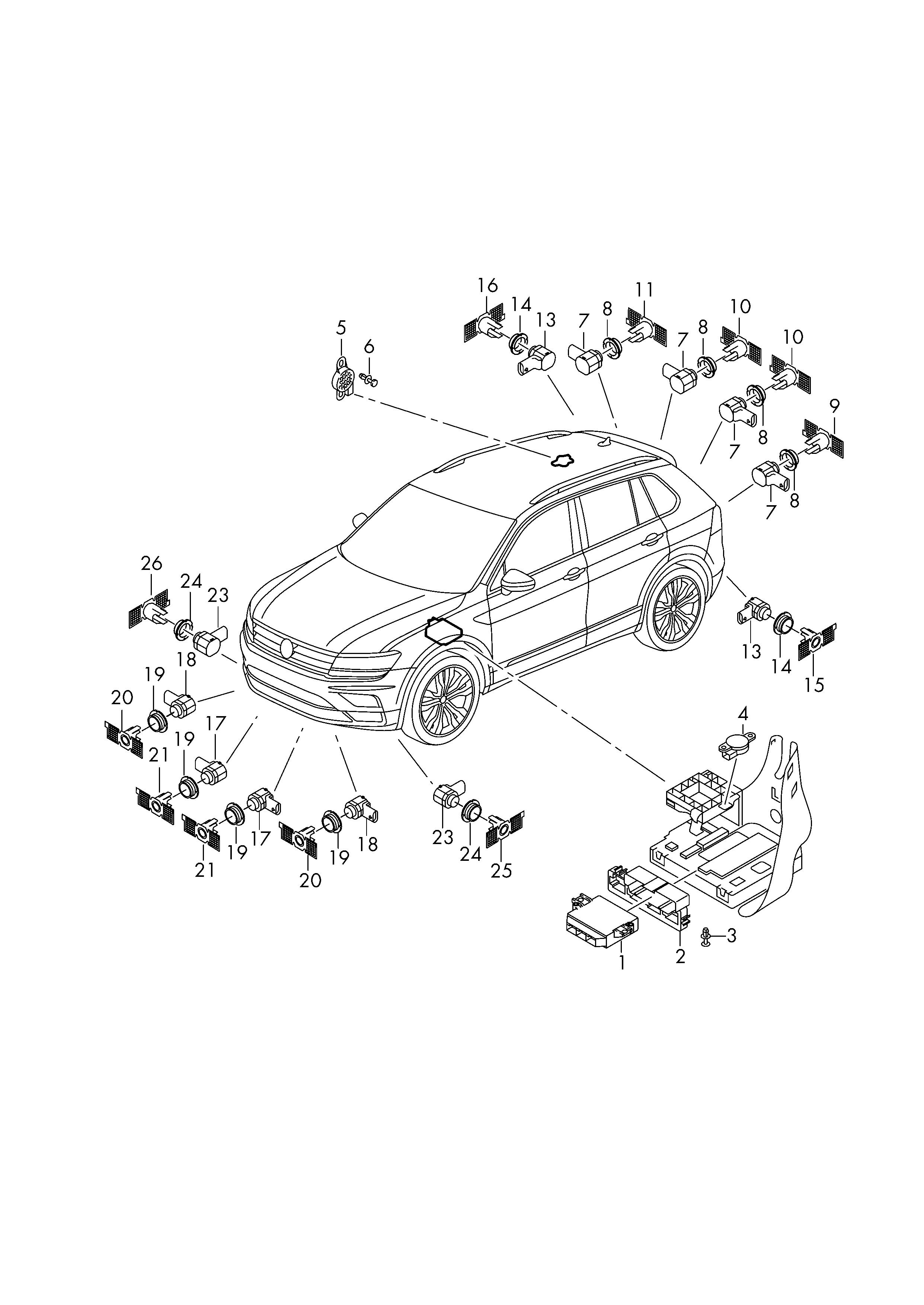 SRL 3 pièces centrage pour Audi Seat Skoda VW HK 7443 HK 7559