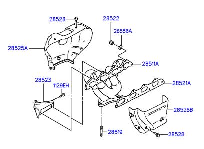 1995 Australia 1995 Sonata 94 1993 1998 Engine 28285b Exhaust