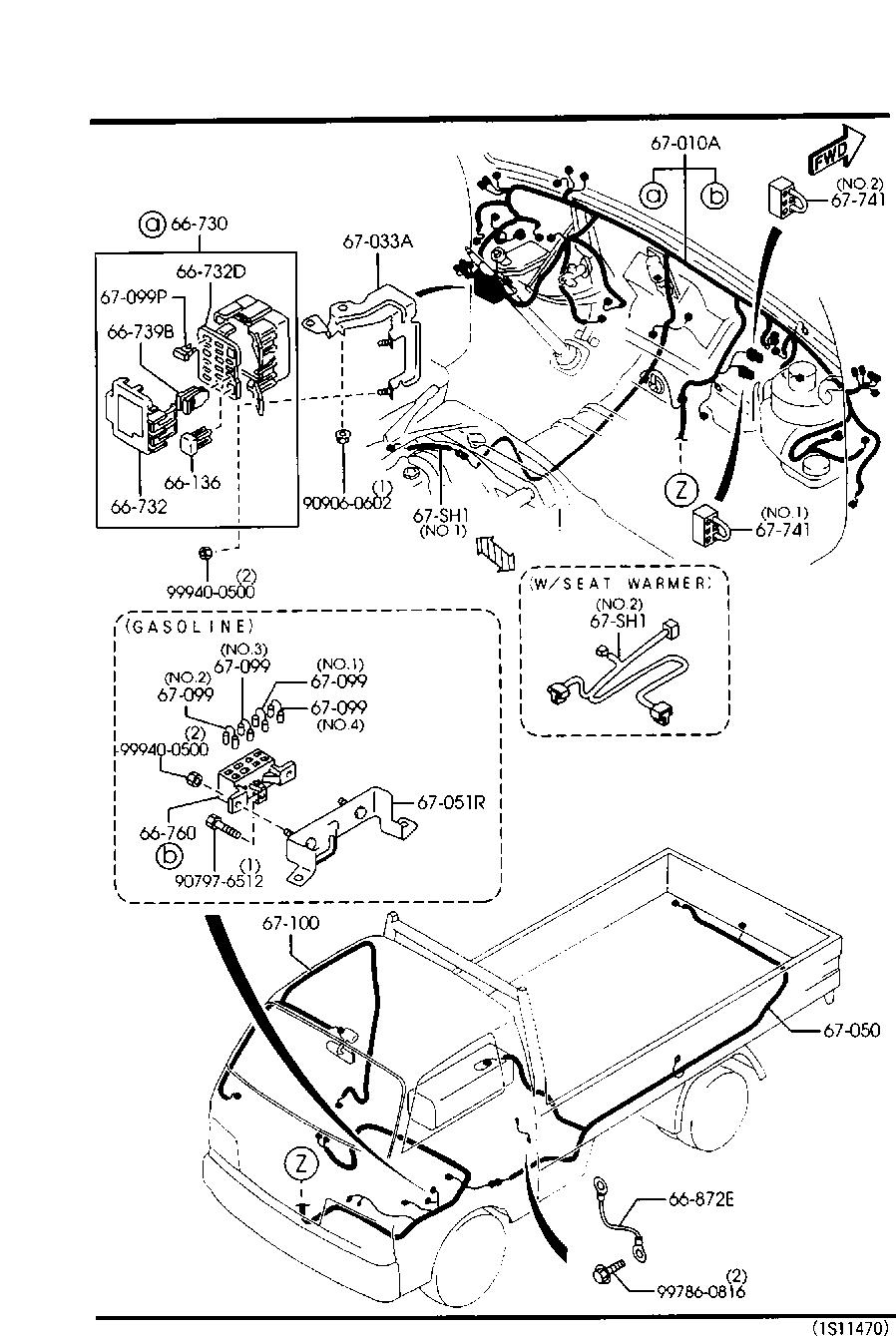 Mazda E2000 Main Fuse Box Electrical Wiring Diagrams Truck Auto Diagram U2022
