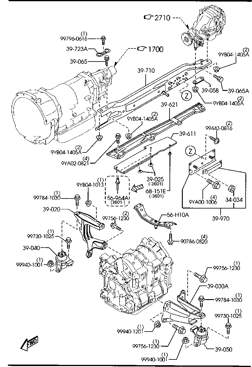 Europe Rx 8 Se 04 2003 Rotary Engine Transmission 3900a Diagram Of List Parts