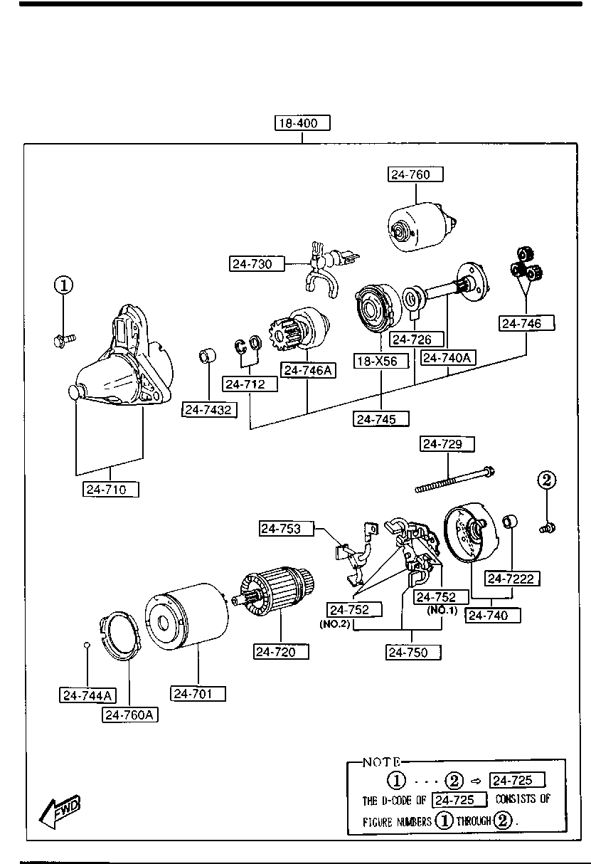 Europe Rx 7 Fd 01 1992 Rotary Engine Supplement 1840 Starter 1990 Mazda Diagram List Of Parts