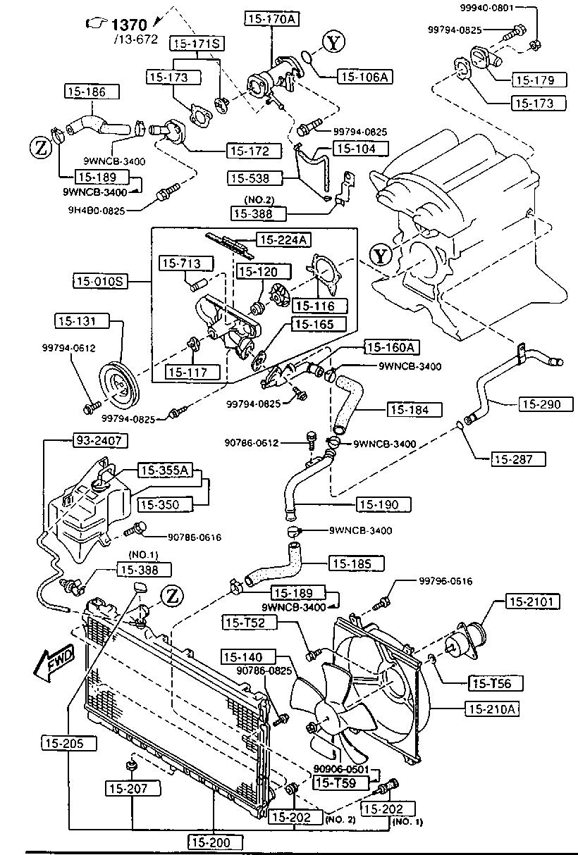 Europe Mx 5 Na 12 1994 Gasoline Engine 4 Cylinder Supplement T56 Diagram List Of Parts