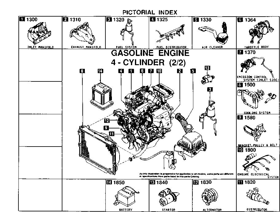 1997 Gasoline Engine 4 Cylinder