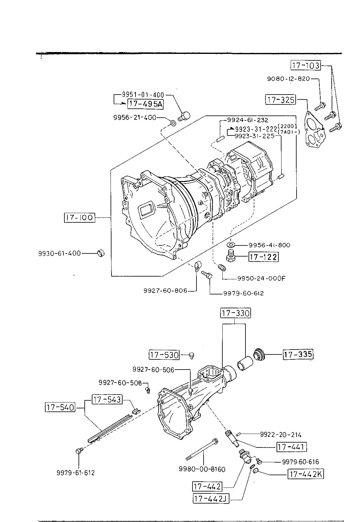 1989 mazda b2200 manual transmission