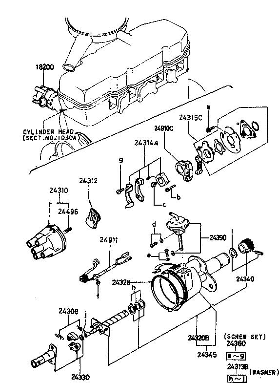 1984 Mazda B2000 Engine