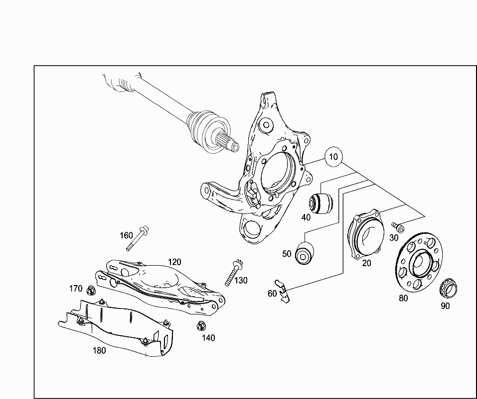 Car Europe 218 304 35 Rear Axle 075 Rear Axle Suspension