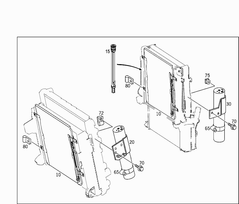 Truck Europe 970 257 50 Radiator 900 Air Conditioner Condenser