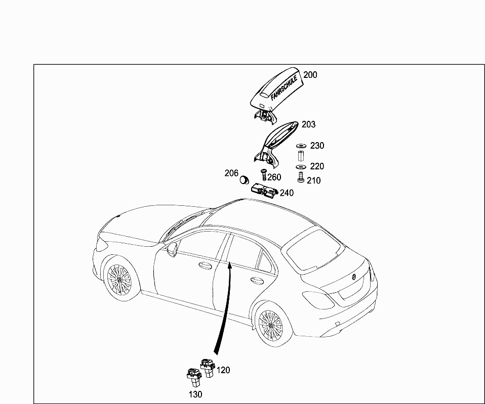 Car Europe 205 064 82 Electrical System 607 Door Wiring Harness