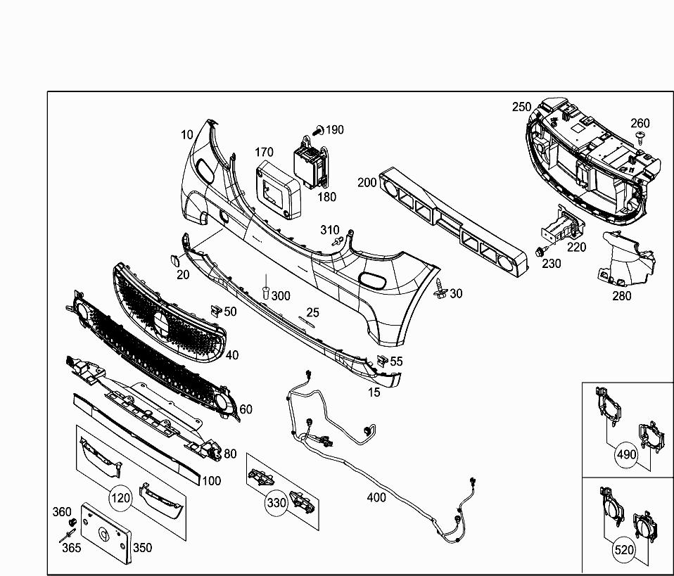 Smart 453 391 88 Attachment Parts 015 Front Fender