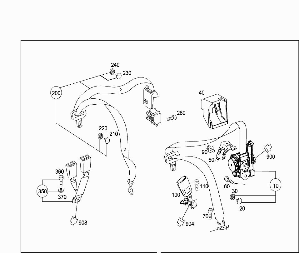 Car Europe 204 997 92 Rear Seat Bench 022 Rear Folding Backrest