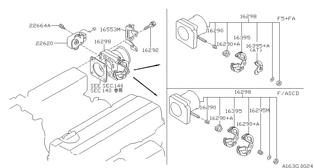 Nissan 4x4 M11 Fuel Engine Control Throttle Chamber