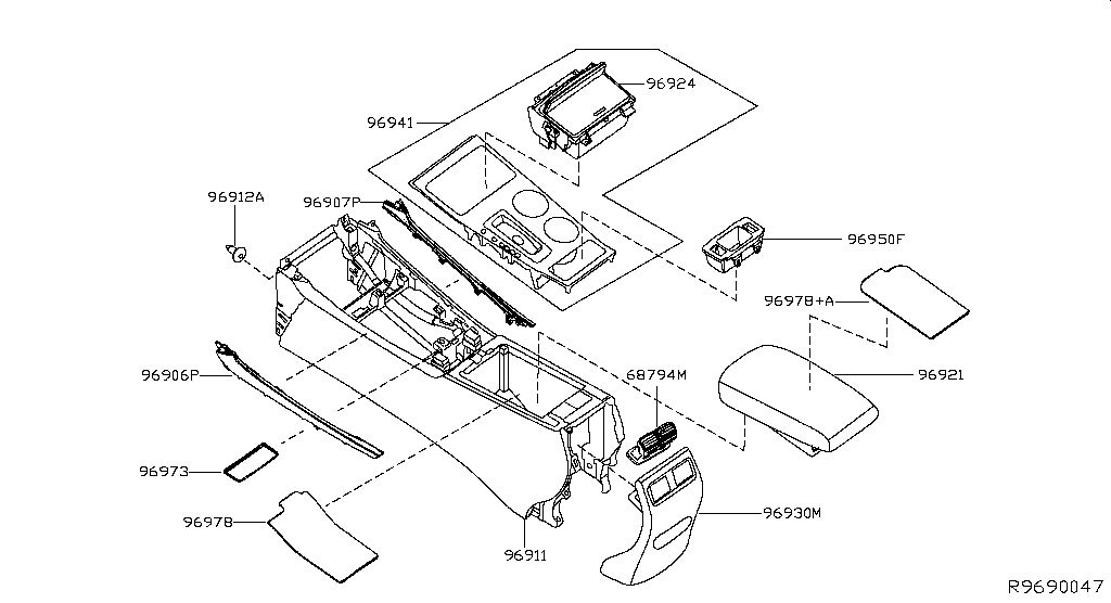Altima L33 Miscellaneous Console Box