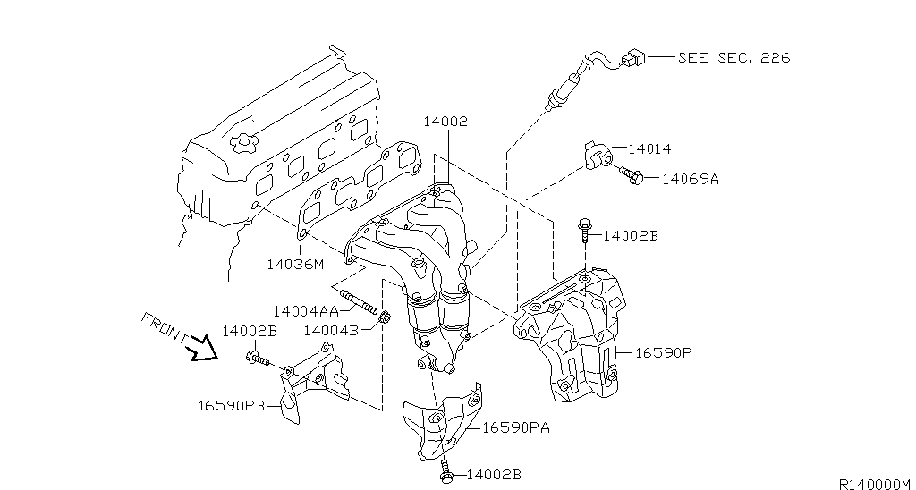 Sentra B15u Engine Mechanical Manifold