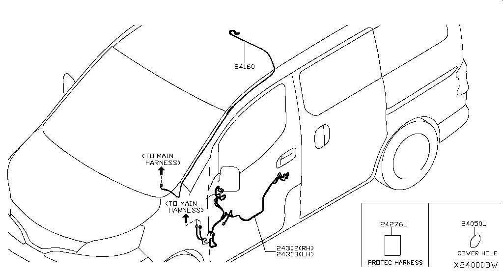 Splash Guard Nissan Murano Parts Diagram 2015