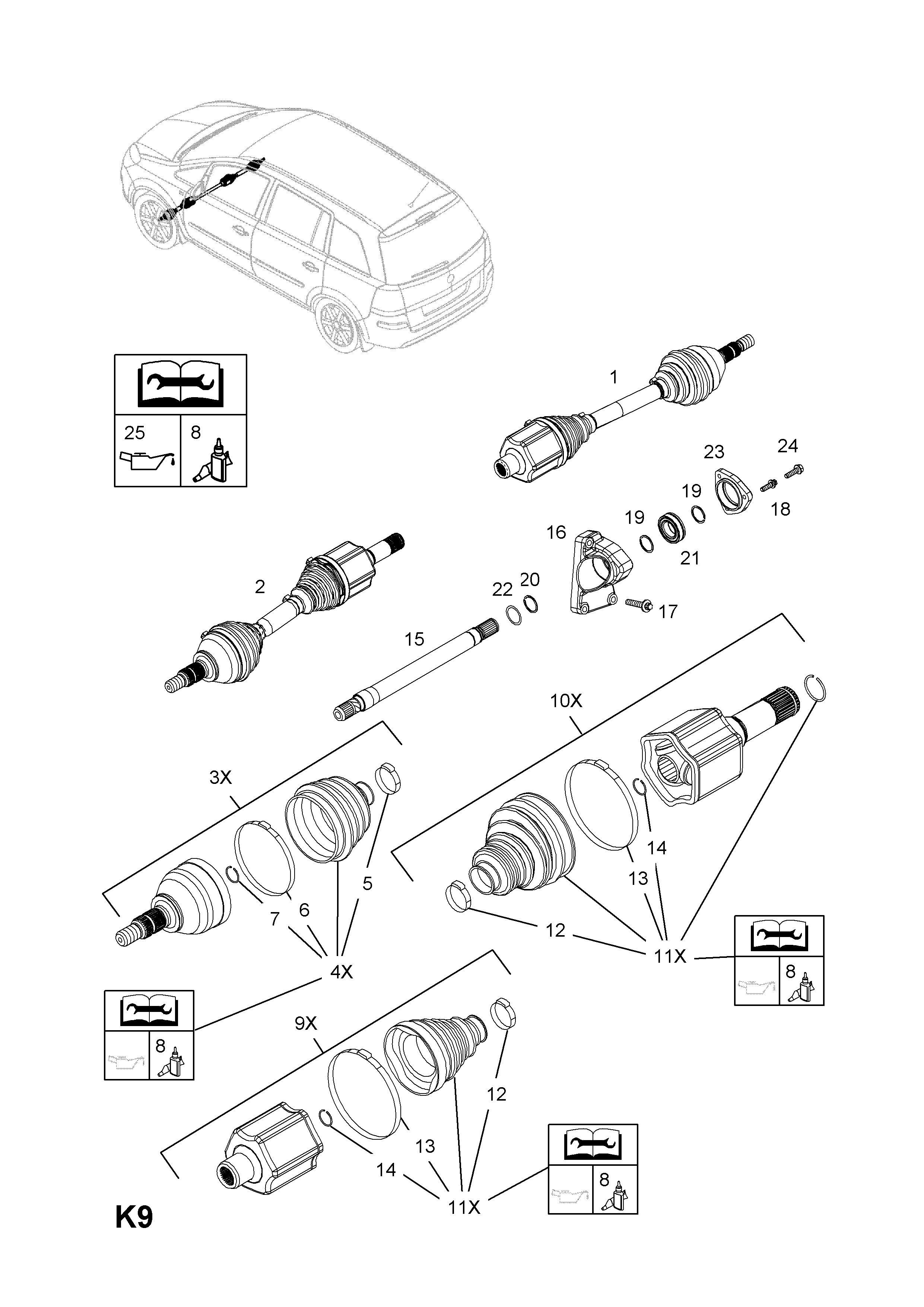 Opel Zafira B 2005 K Front Axle And Suspension 50z19dtllpp Diesel Engine Fuel System Diagram List Of Parts