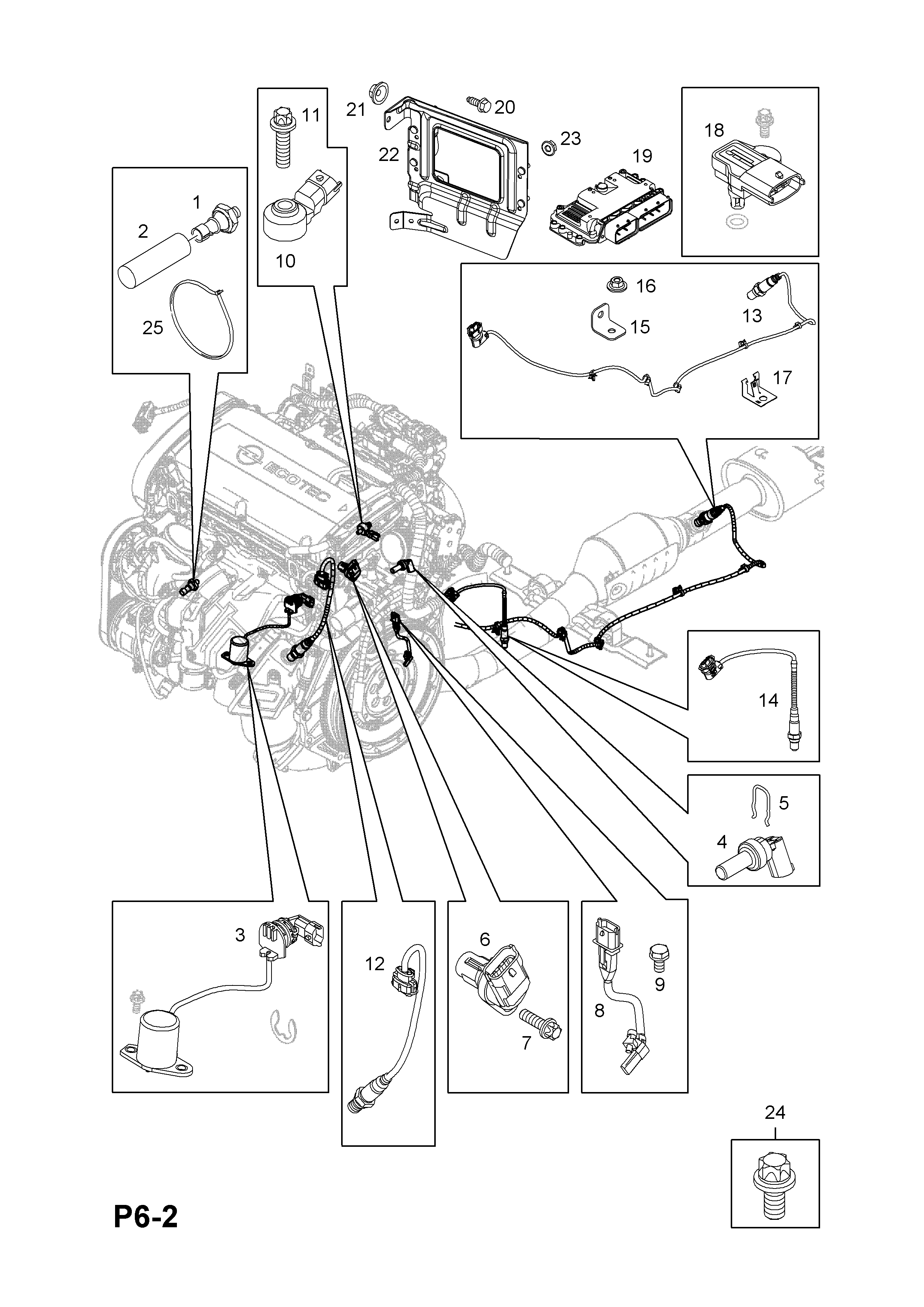 Opel Zafira B 2005 P Electrical 1 Engine And Cooling 121 Camshaft Diagram List Of Parts