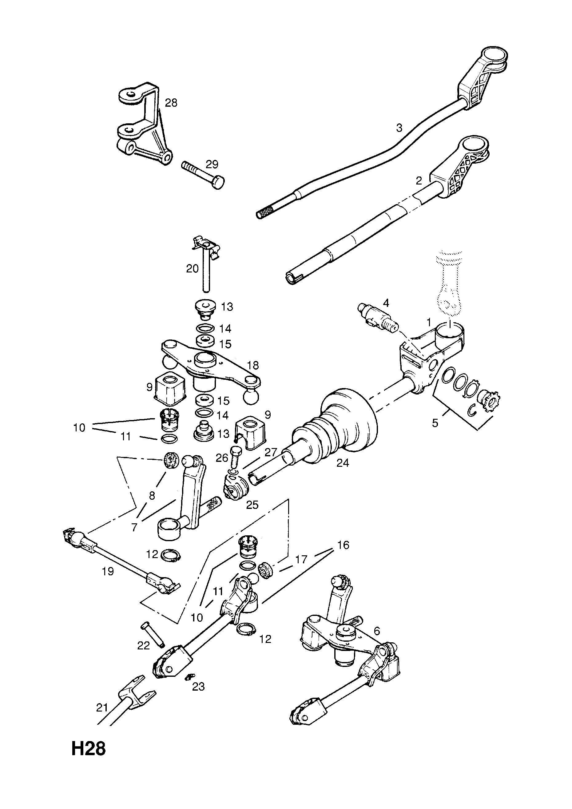opel calibra 1989 1997 h transmission 6 used with five speed 10 Bolt Rear End Parts gm part number genuine part number description range