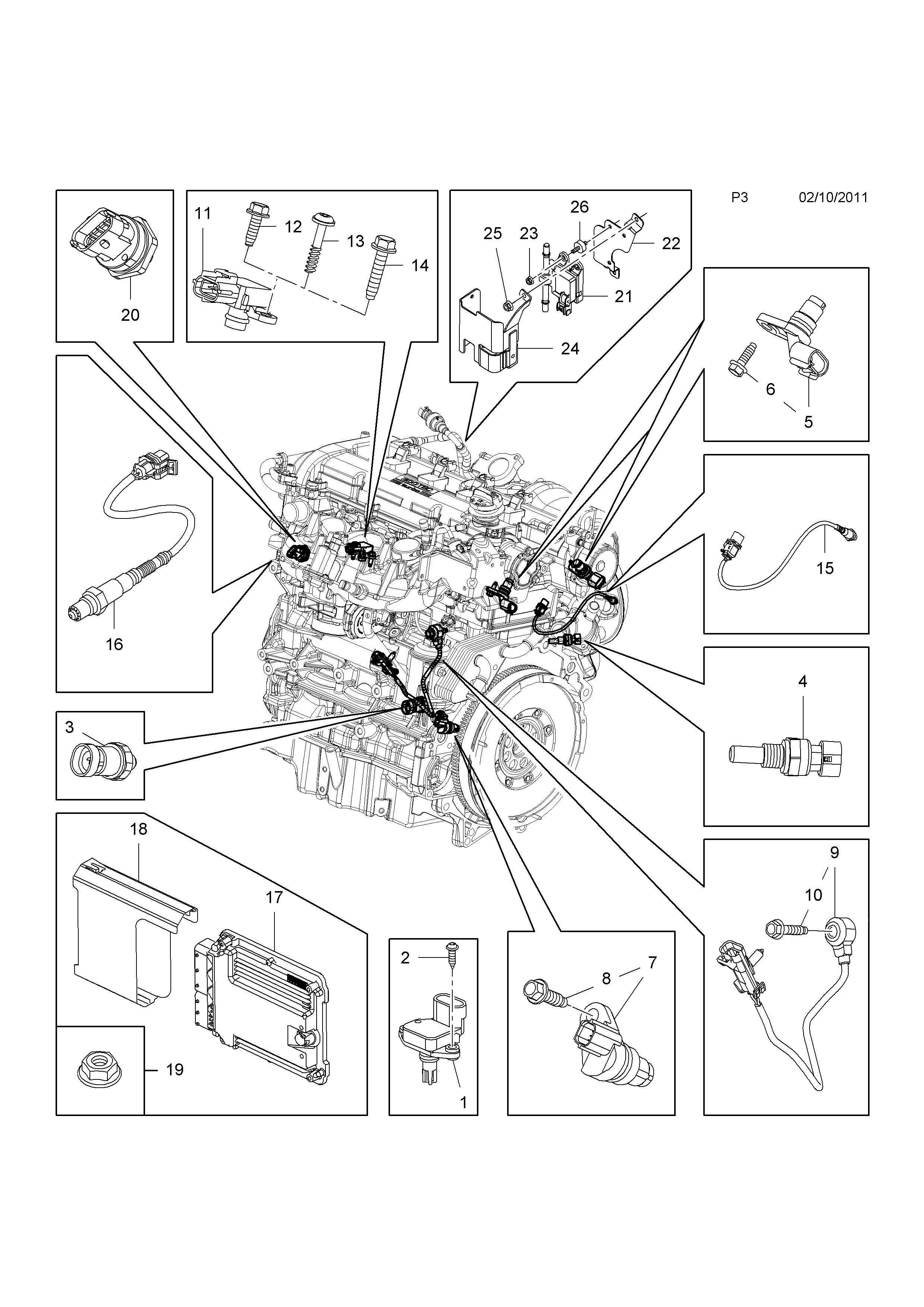 Vauxhall Insignia 2009 P Electrical 1 Engine And Cooling Gm Fuel Pressure Diagram