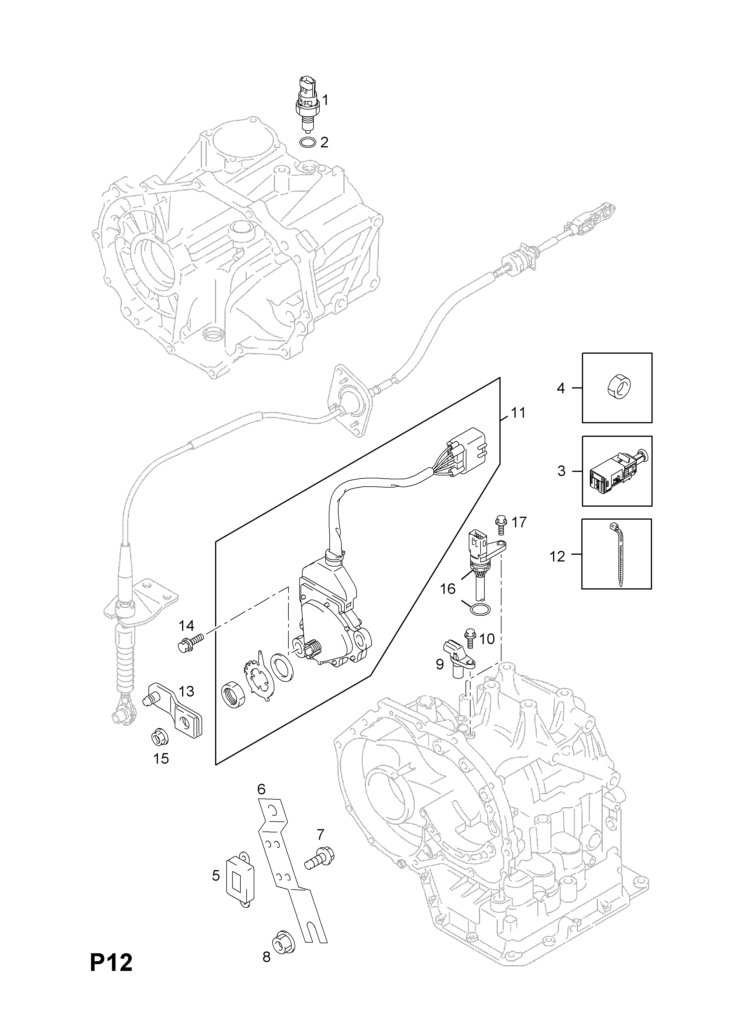 Vauxhall Agila B 2008 P Electrical 3 Transmission Wiring Diagram List Of Parts