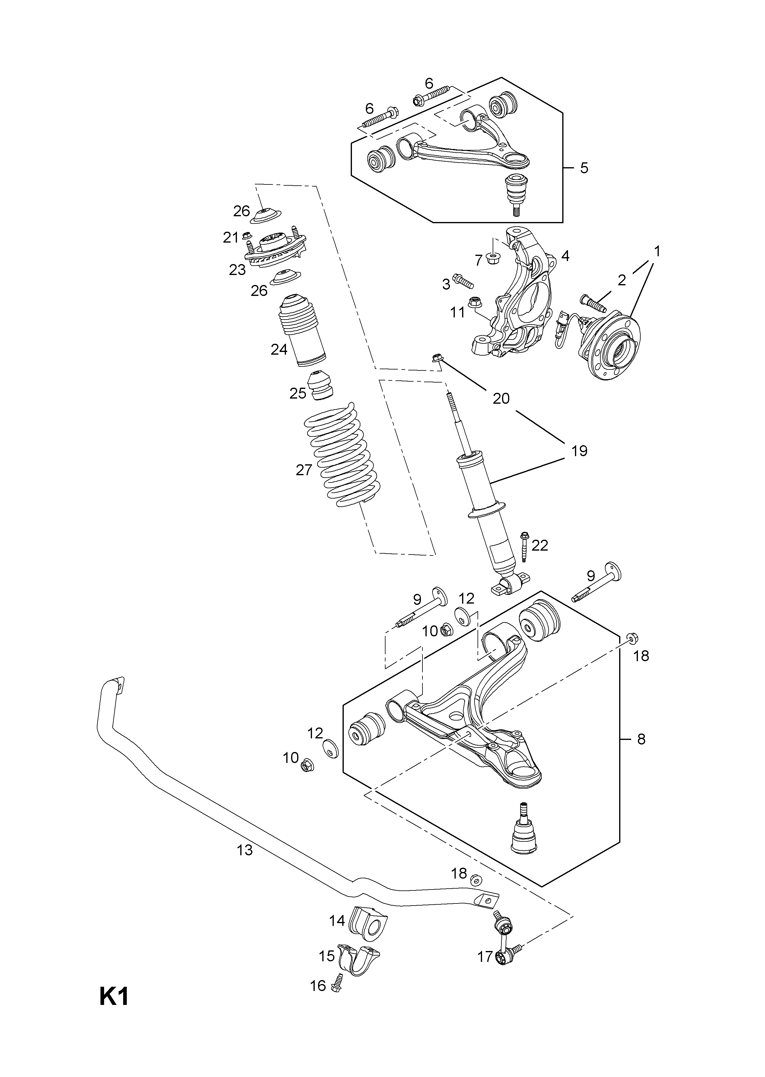 Opel Gt Front Suspension Diagram Electrical Wiring Diagrams 1970 2007 2009 K Axle And 6 Lower Doors