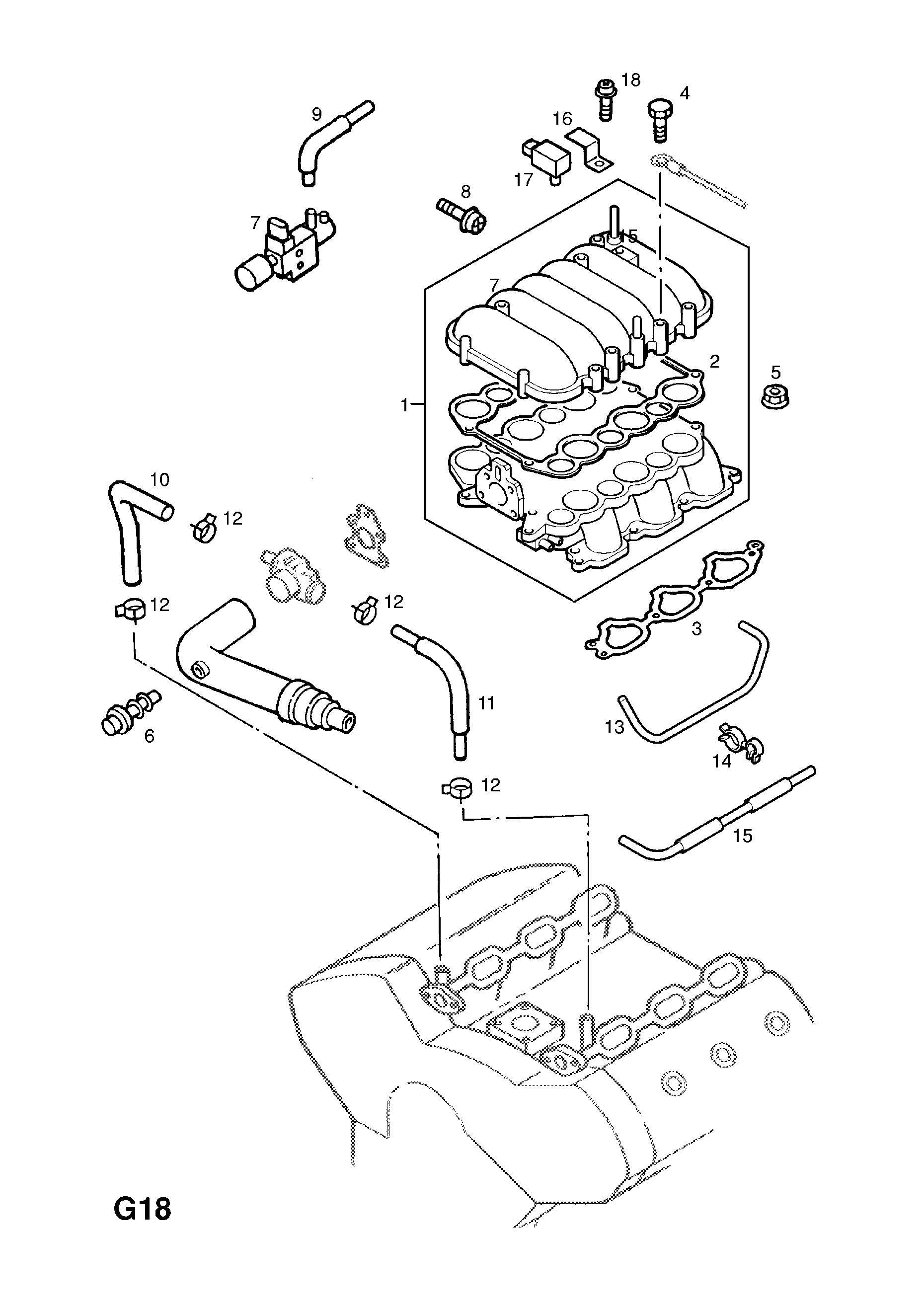 Opel Monterey Vacuum Diagram Electrical Wiring Diagrams Vauxhall 1998 2000 G Fuel And Exhaust 52 35 Petrol