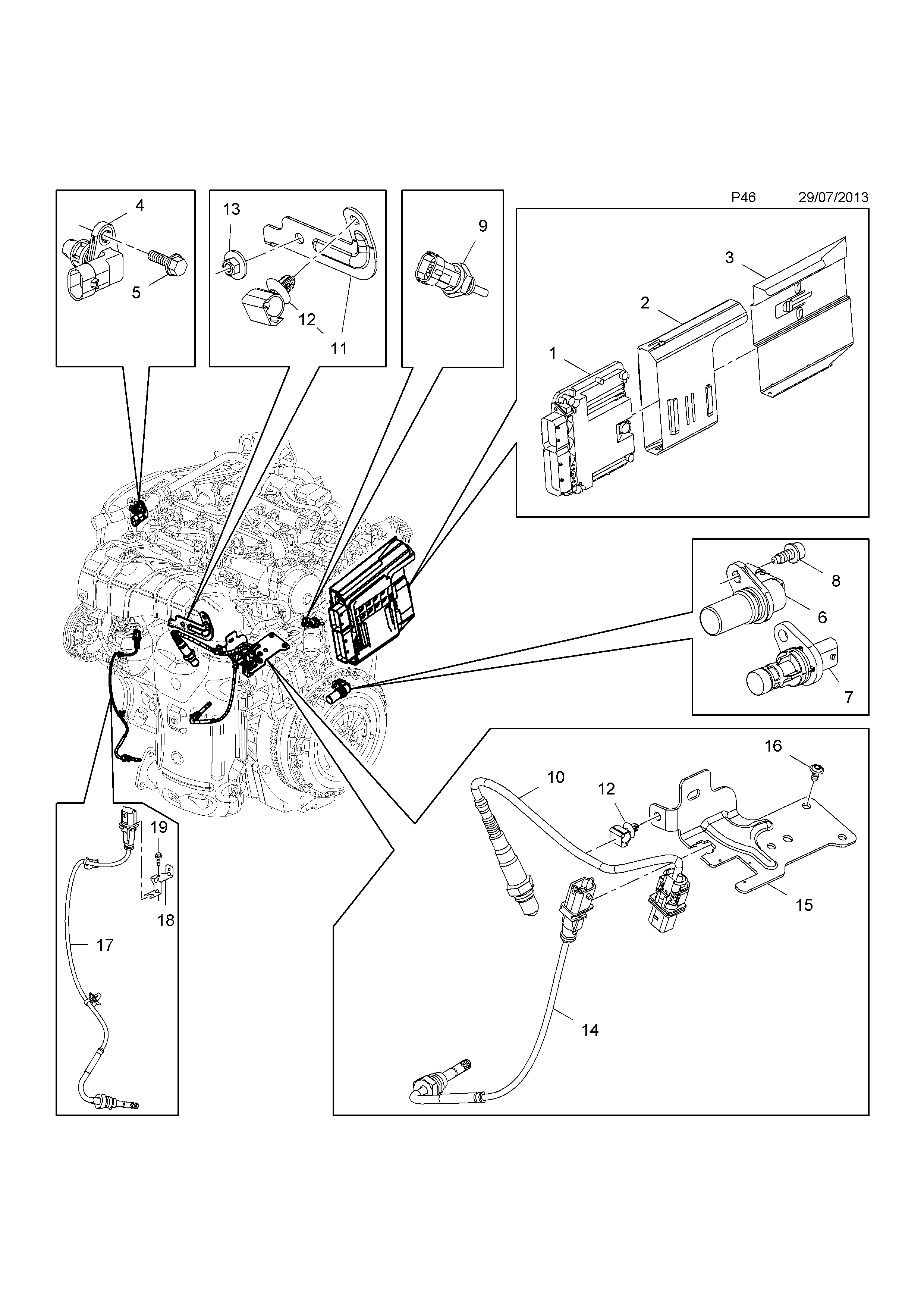 Vauxhall Astra J 2010 P Electrical 1 Engine And Cooling 140 Brava Wiring Diagram List Of Parts