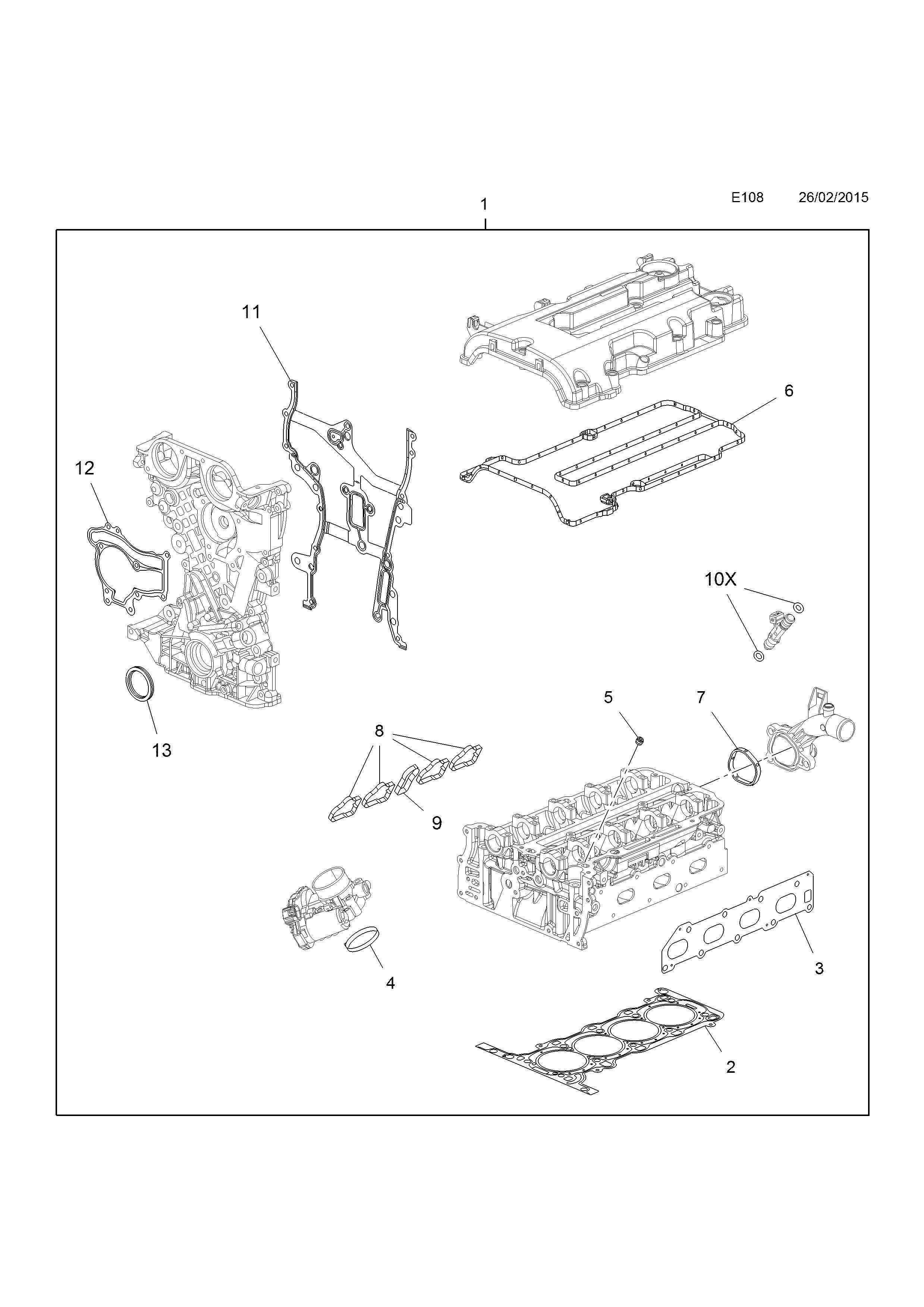opel meriva b 2010 e engine and clutch 1 a14xer ldd a14nel 2015 Bugatti GT list of parts