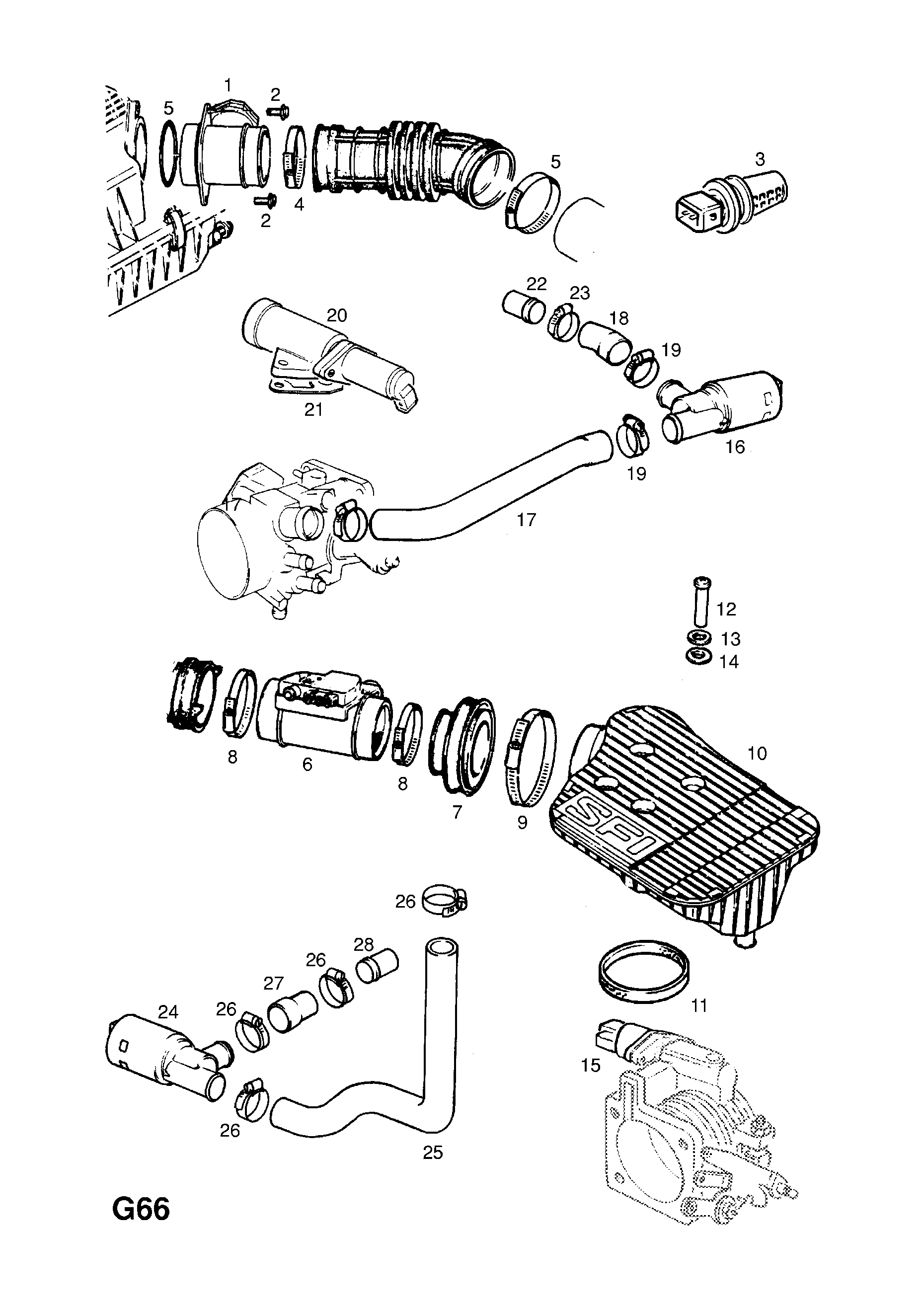 Opel Astra F 1992 1998 G Fuel And Exhaust 5318selv6 Petrol Circuit Diagram List Of Parts