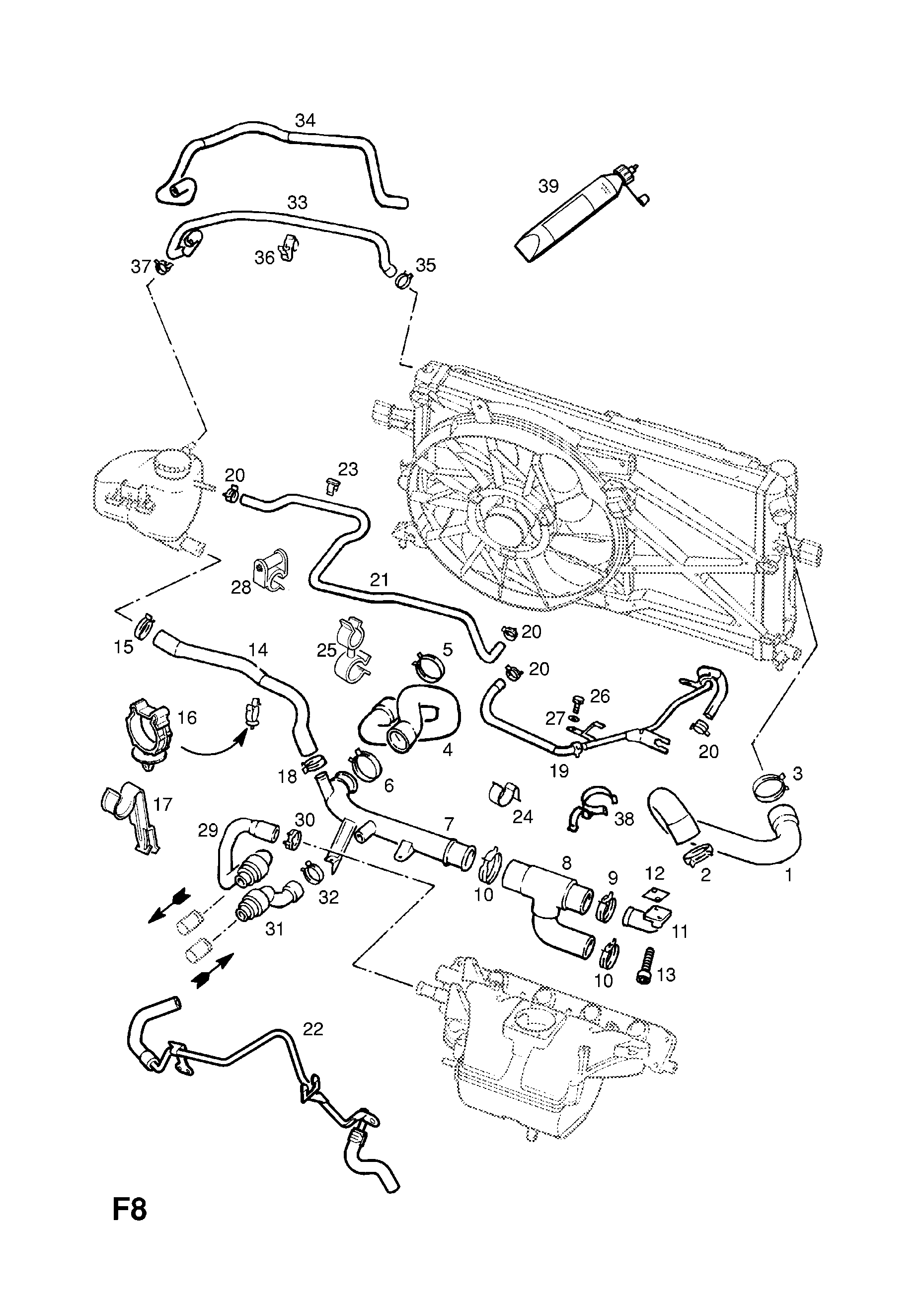 Opel Astra G 1998 2010 F Cooling 48z18xell97 Engine Central Locking Wiring Diagram List Of Parts