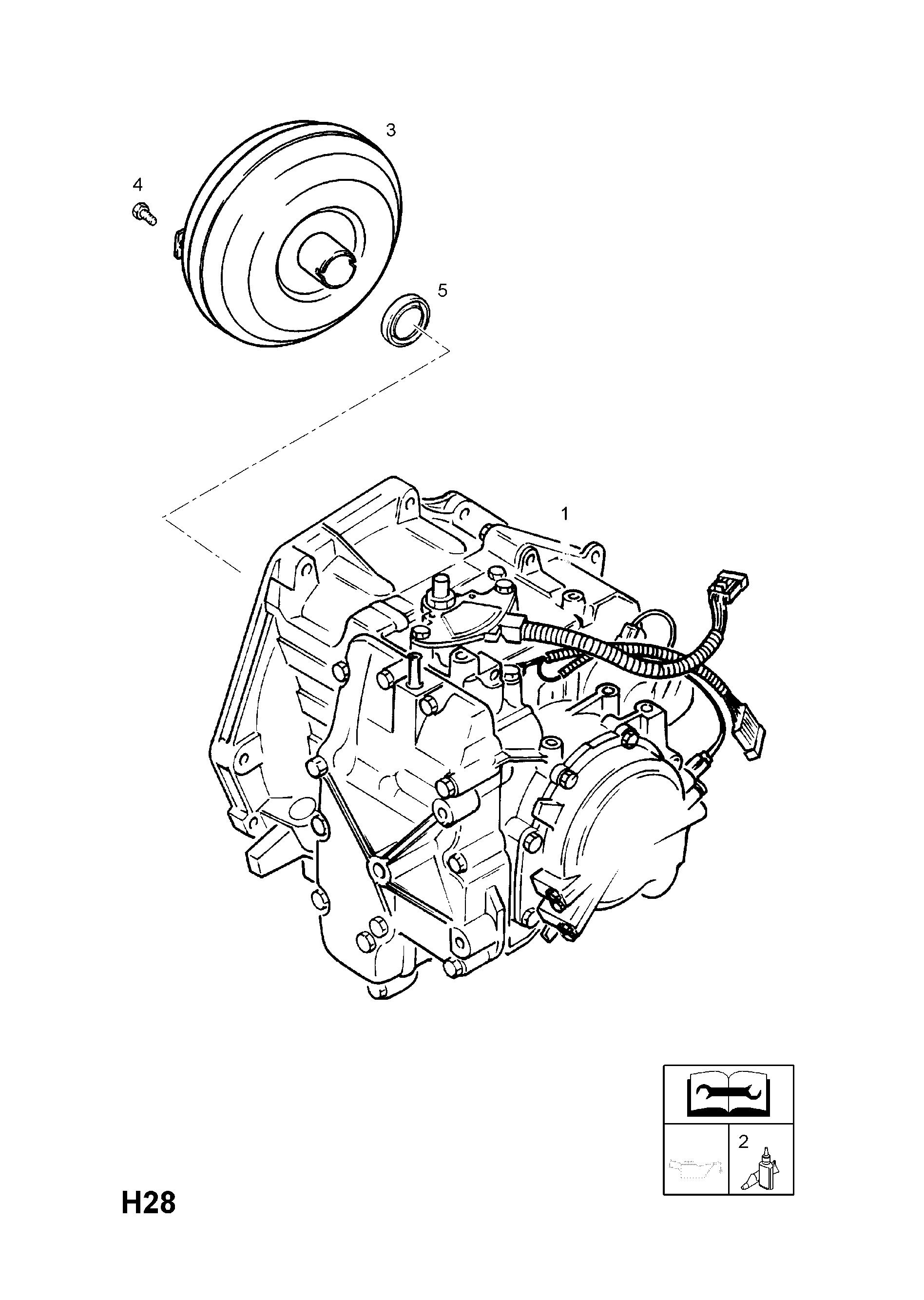 Opel Astra G 1998 2010 H Transmission 8 Af17 Automatic Gm Alternator Parts Diagram Part Number Genuine Description Range