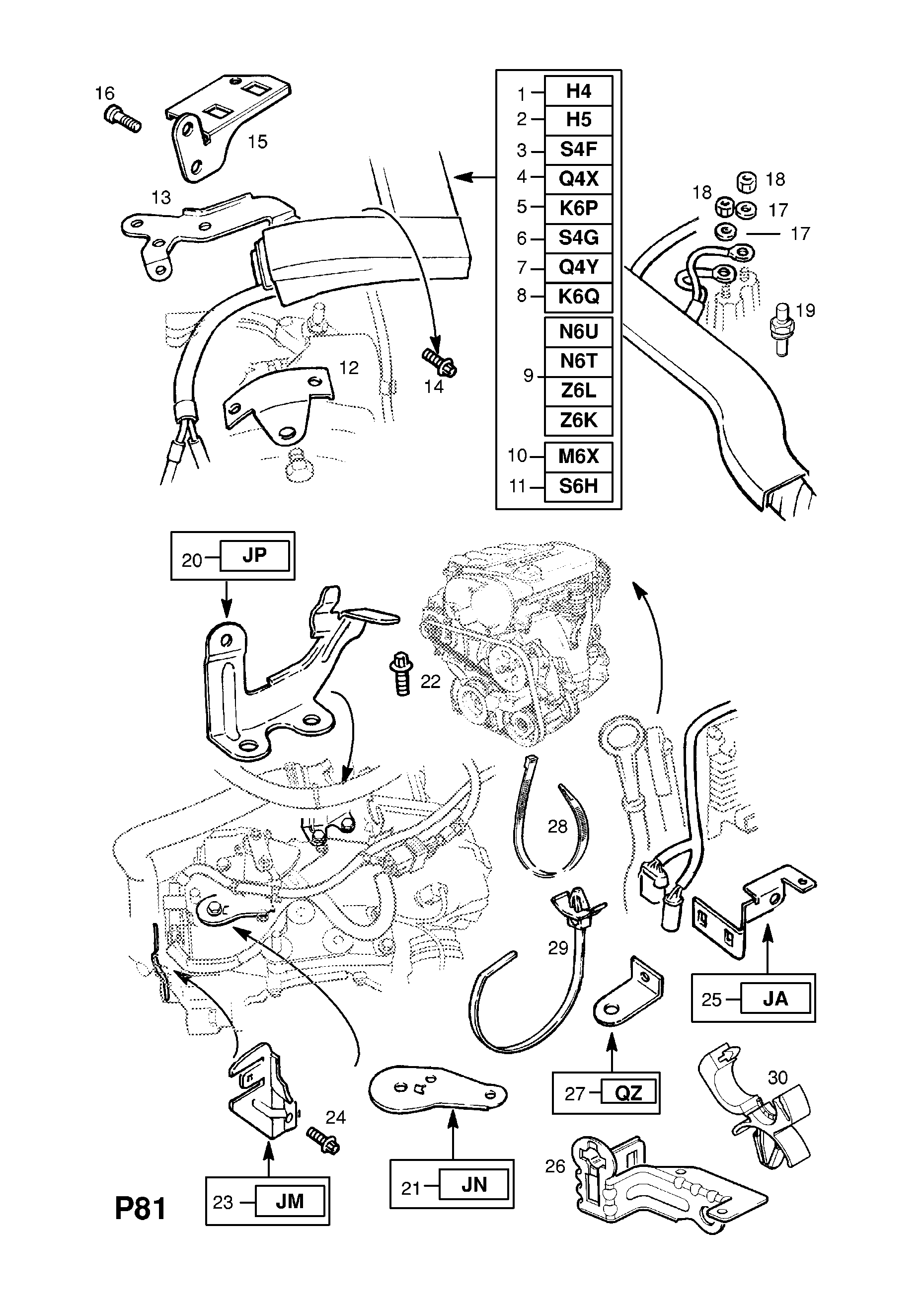 Opel Astra G 1998 2010 P Electrical 9 Wiring Harness 168 Diagram List Of Parts