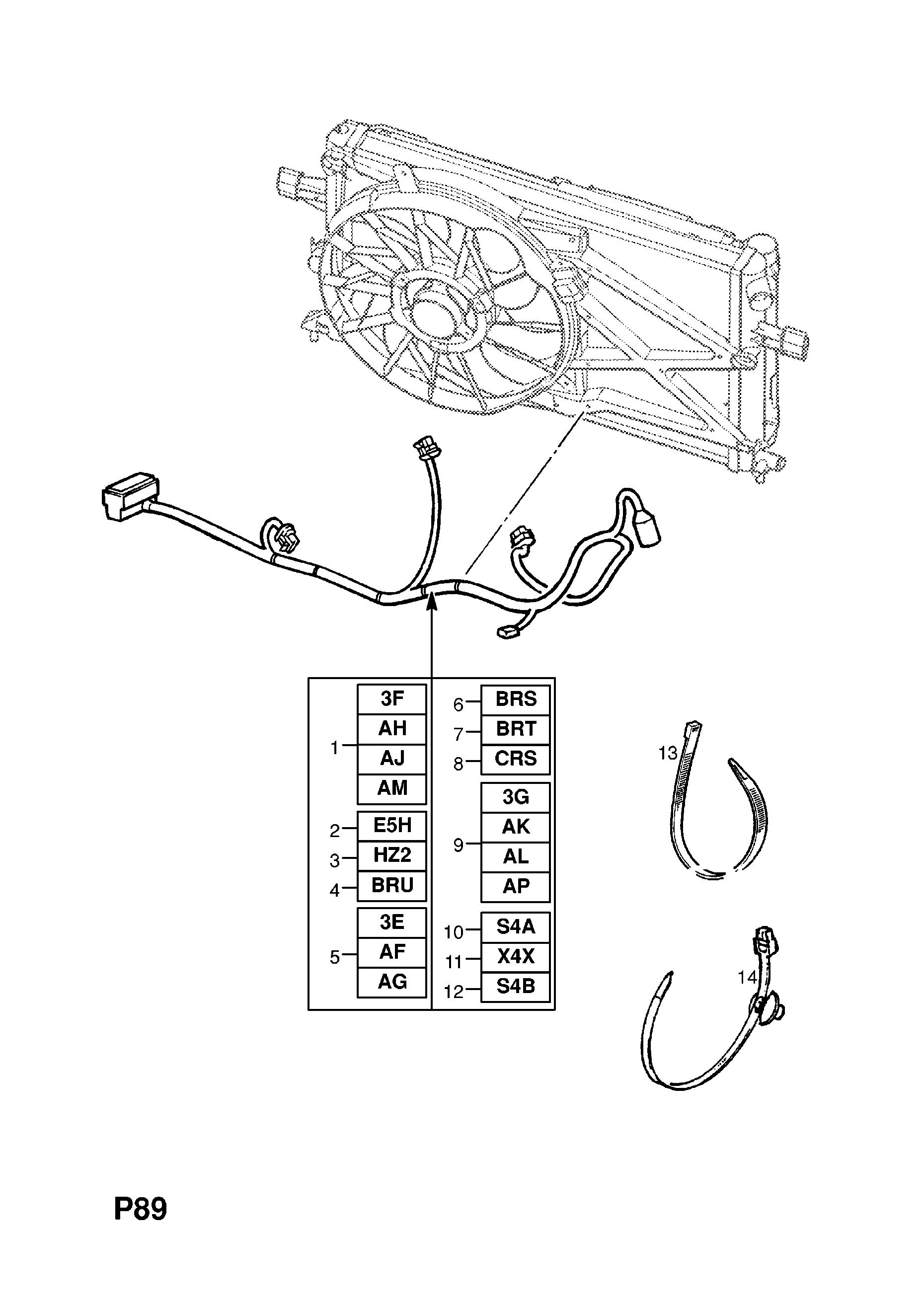 list of parts  model � astra-g/w0l0tgf35y8168889