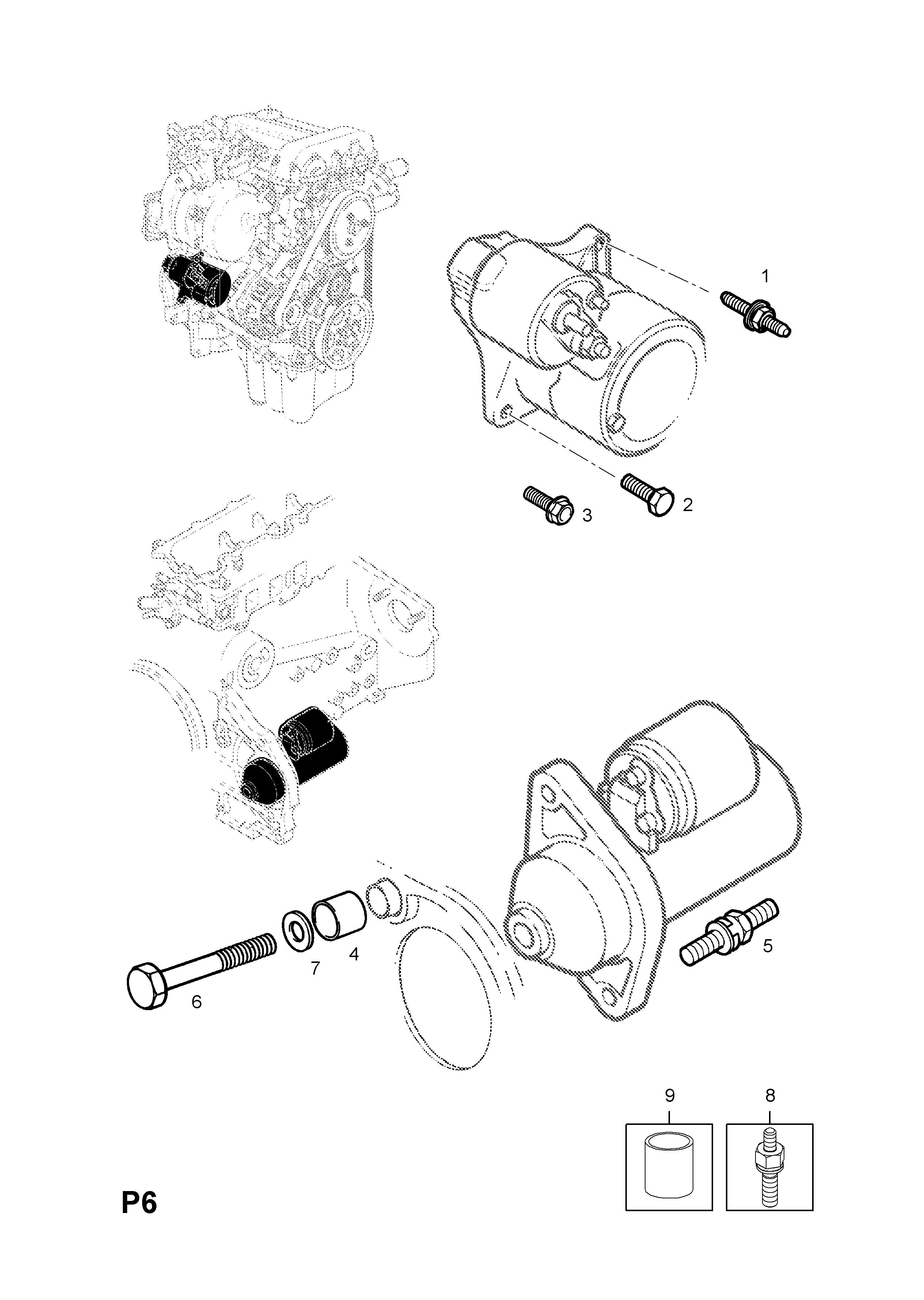 corsa starter motor wiring diagram