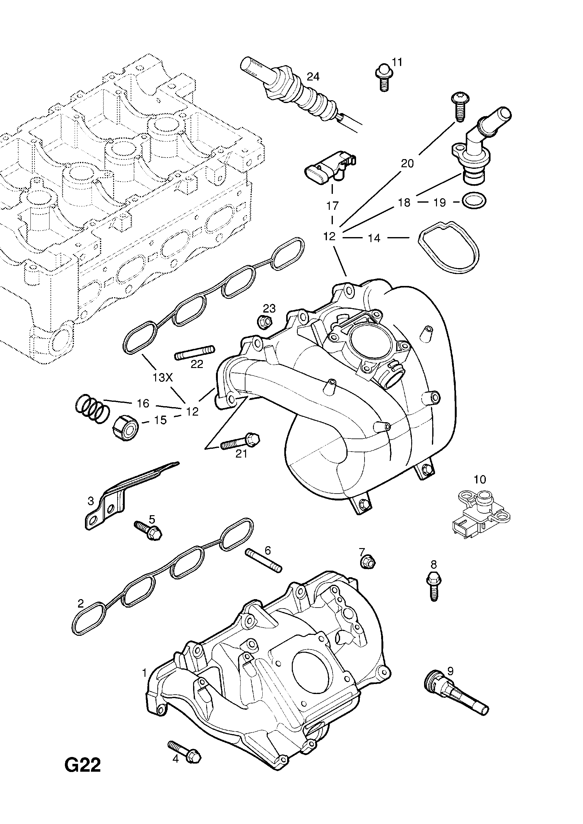 Opel Vectra C 2002 2008 G Fuel And Exhaust 236z22sel61 Cat 236 Engine Diagram List Of Parts