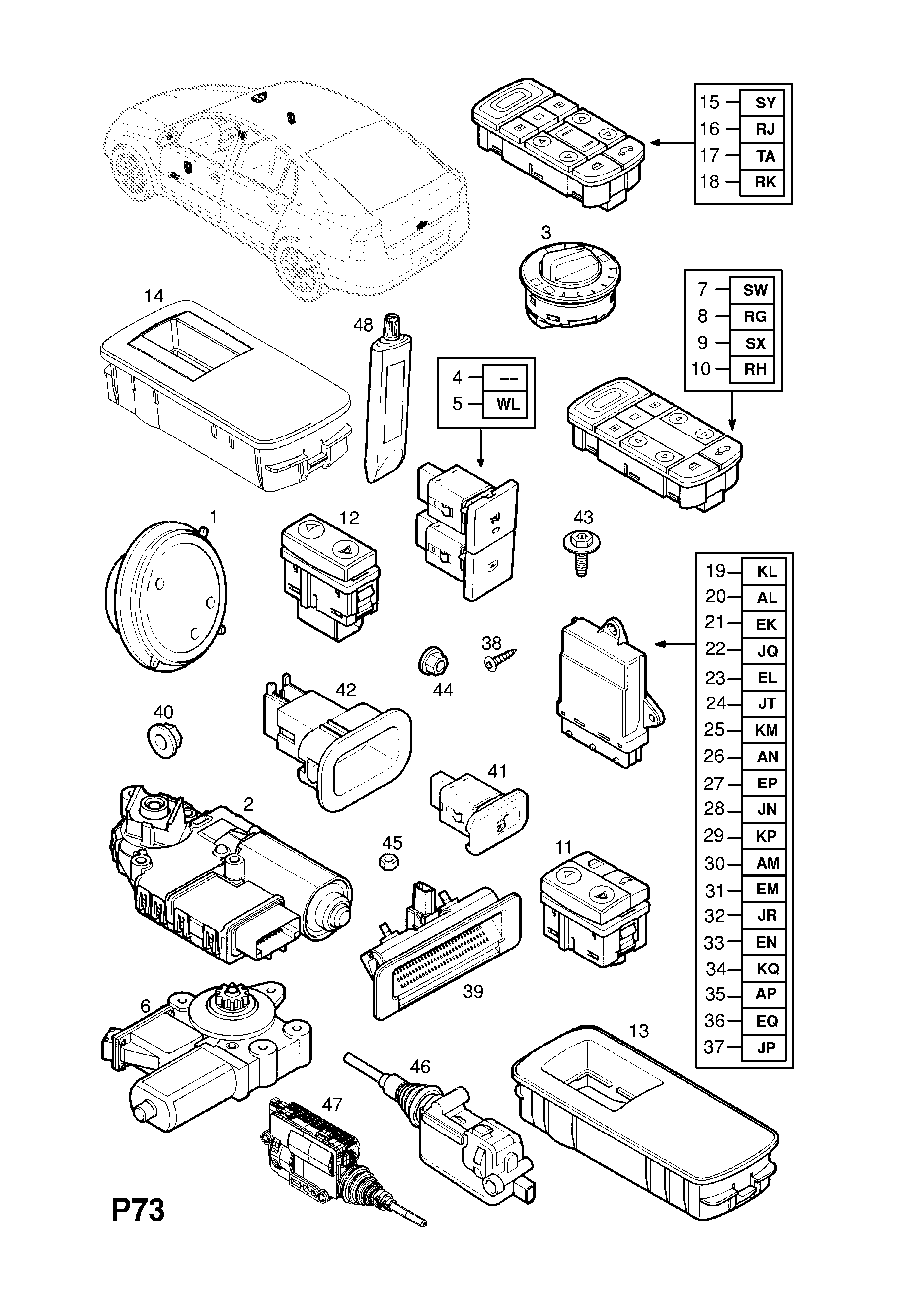 Vectra C W0l0zcf6941052682 P Electrical 13 Body 26used With I Would Like To Know How Get A Diagram List Of Parts