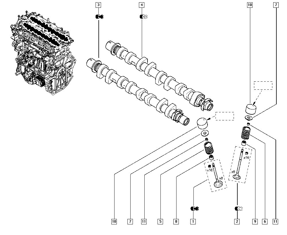 Mgane Iii Kz28 Manual 11 Upper Engine Valve Timing Diagram List Of Parts