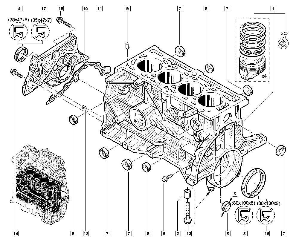 clio iii  br00  manual  10 engine    cylinder block