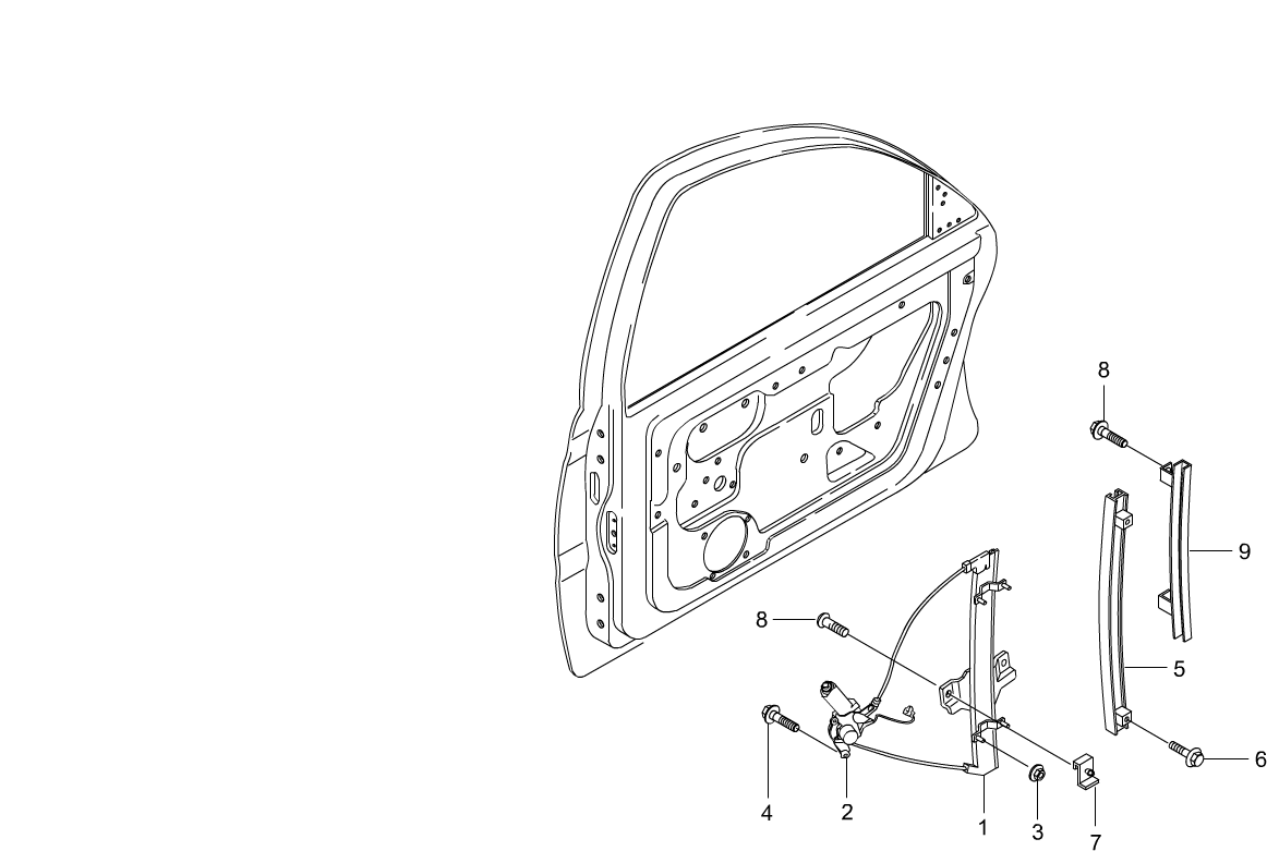 Chairman Interior Exterior 7220 Rear Window Lifter Daewoo Korando Outside Mirror Schematic And Routing Diagram Code Part Number Name Production Date Qty Note Replacement History Image