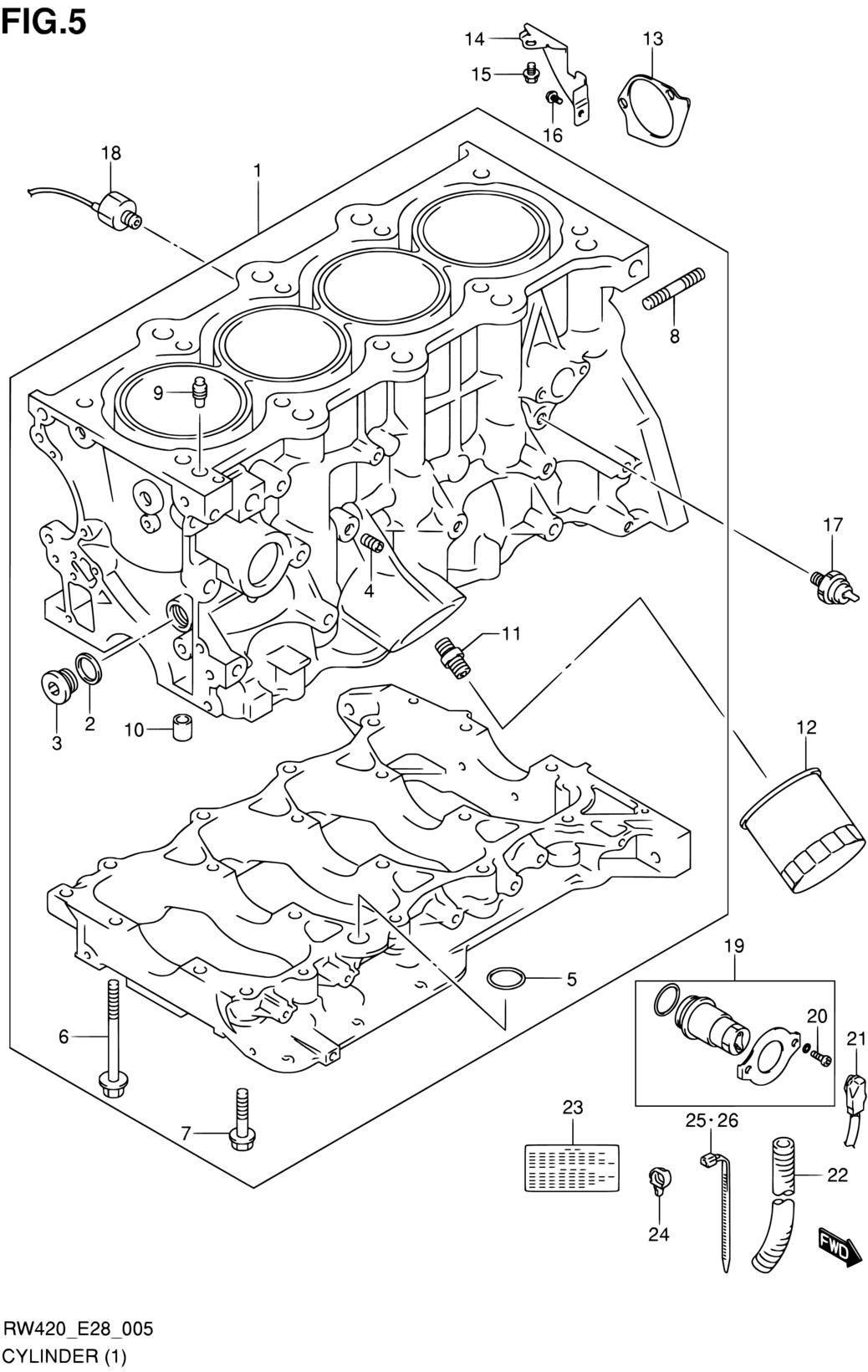 All Regions Sx4 Rw420 E28my 2009 Engine 5 Cylinder J20a Suzuki Diagram Parts