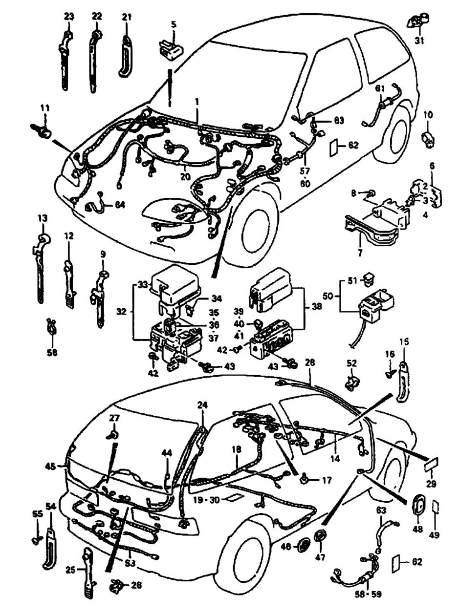 Europe Swift Sf413 Magyar E02e15e18e19e22e30 Electrical E30 Wiring Harness Parts