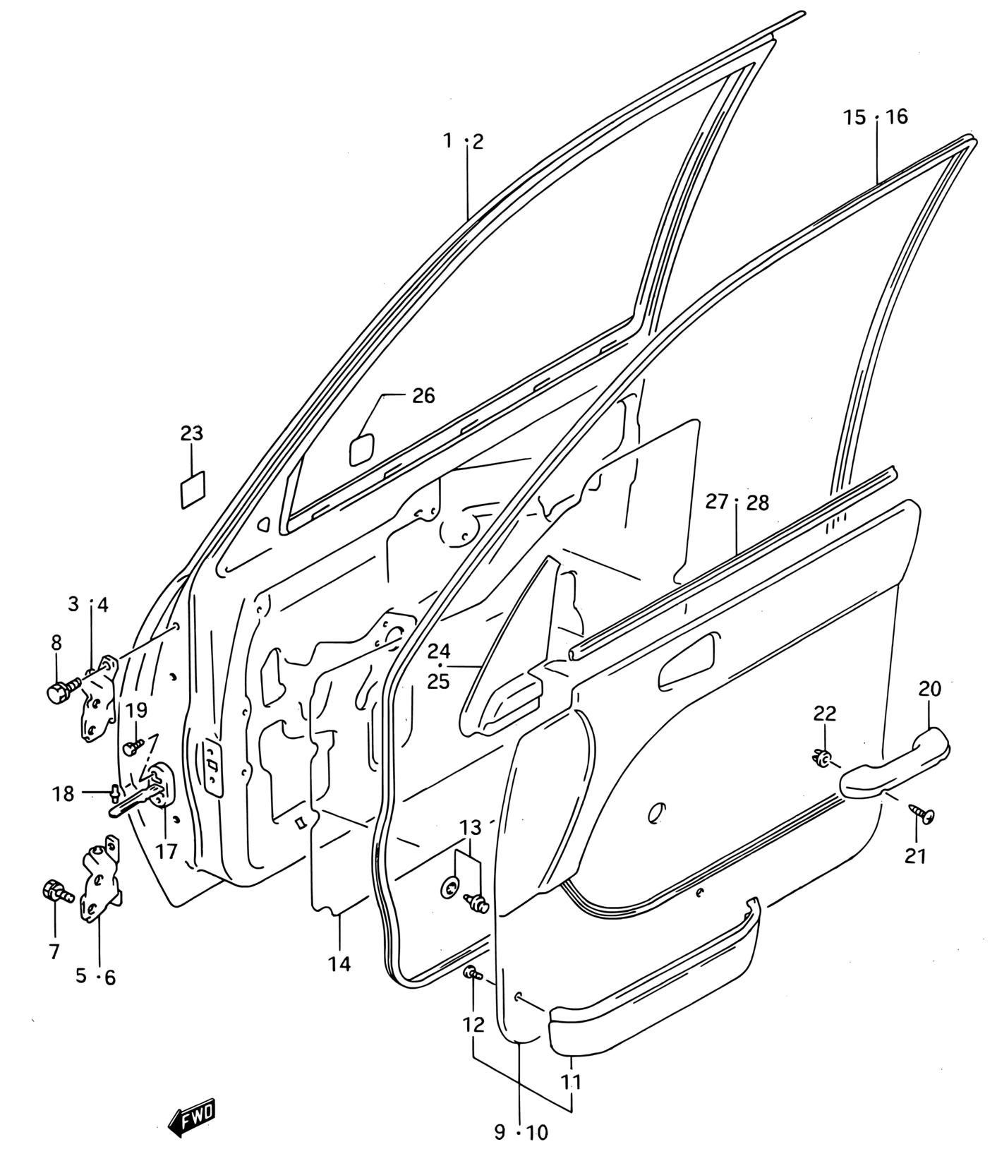 Suzuki Door Schematic Online Schematics Diagram Europe Swift Sf310 E66 Interior Trim 73 Front Panel Step 125 Wiring