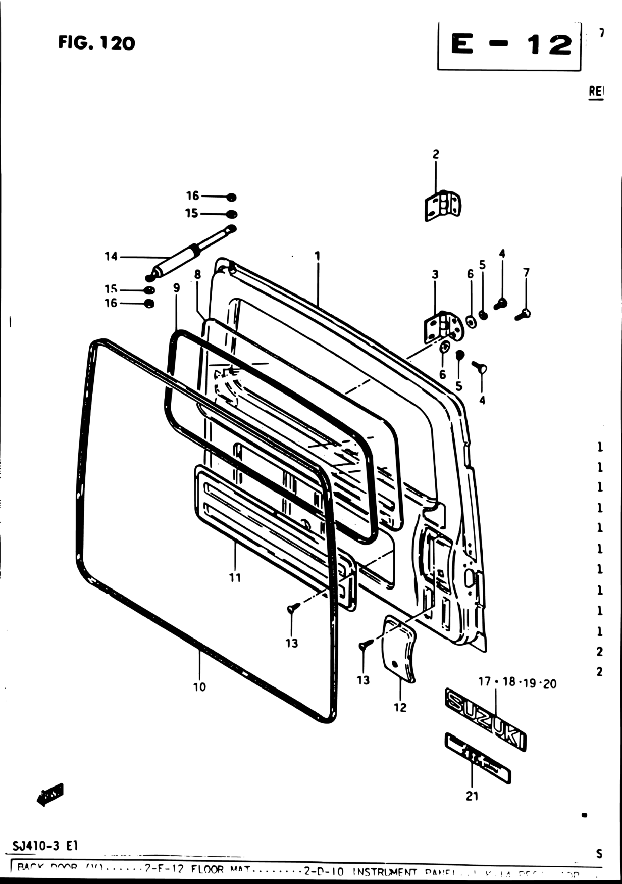 Suzuki Door Schematic Books Of Wiring Diagram Daihatsu Charade G30 Middle East Samurai Sj Sj410 4 E01 Interior Trim 120 Back Rh Catcar Info