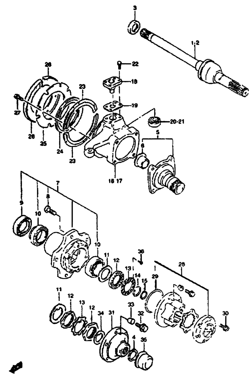 Samurai Front Axle Diagram Electrical Wiring Diagrams Africa Sj Sj413 E Iii Santana Suspension 48 Suzuki Truss Homemade