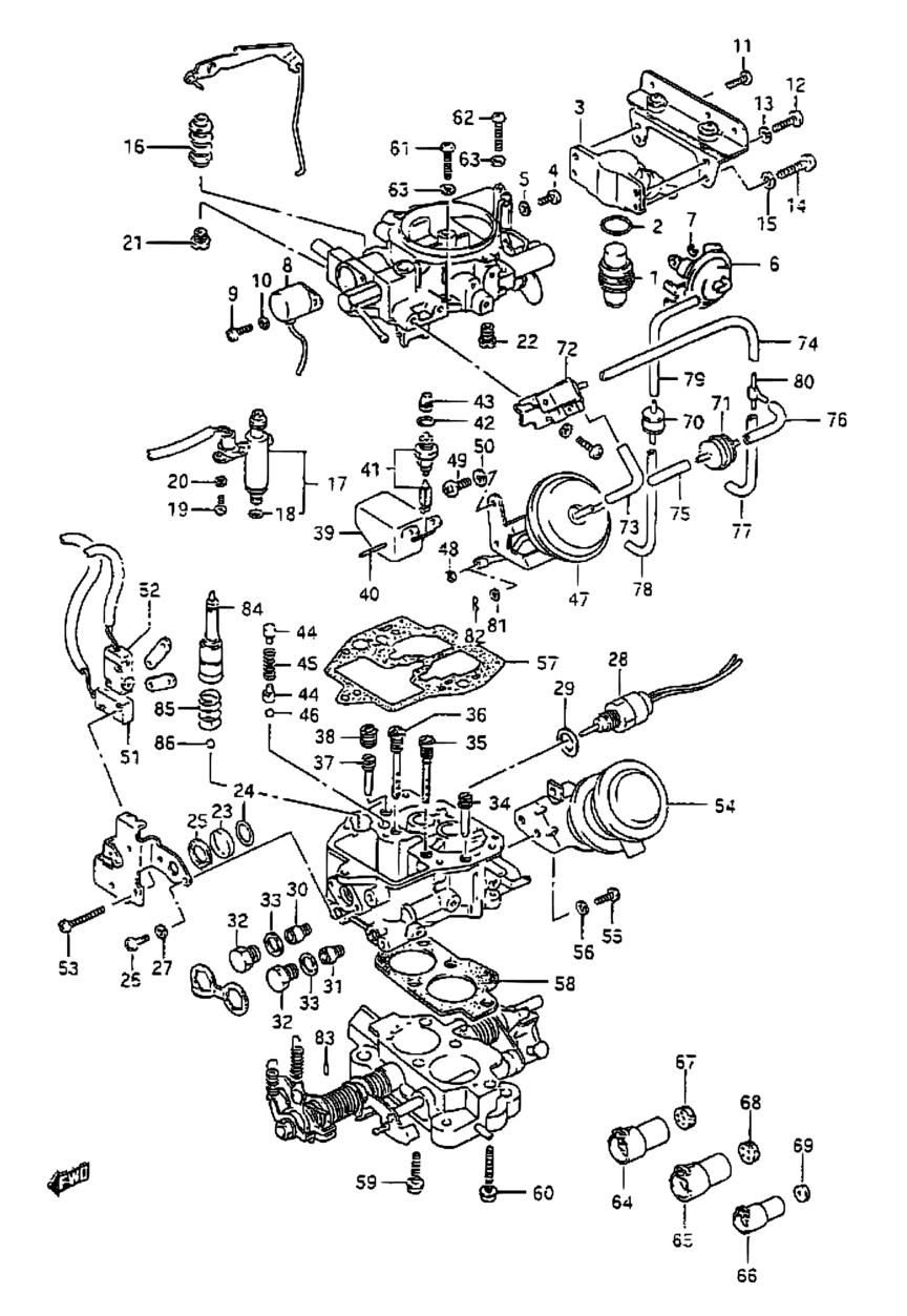 All Regions Samurai Sj Sj413 E03e33my 1986 Engine 10 Suzuki Wiring Diagram Parts