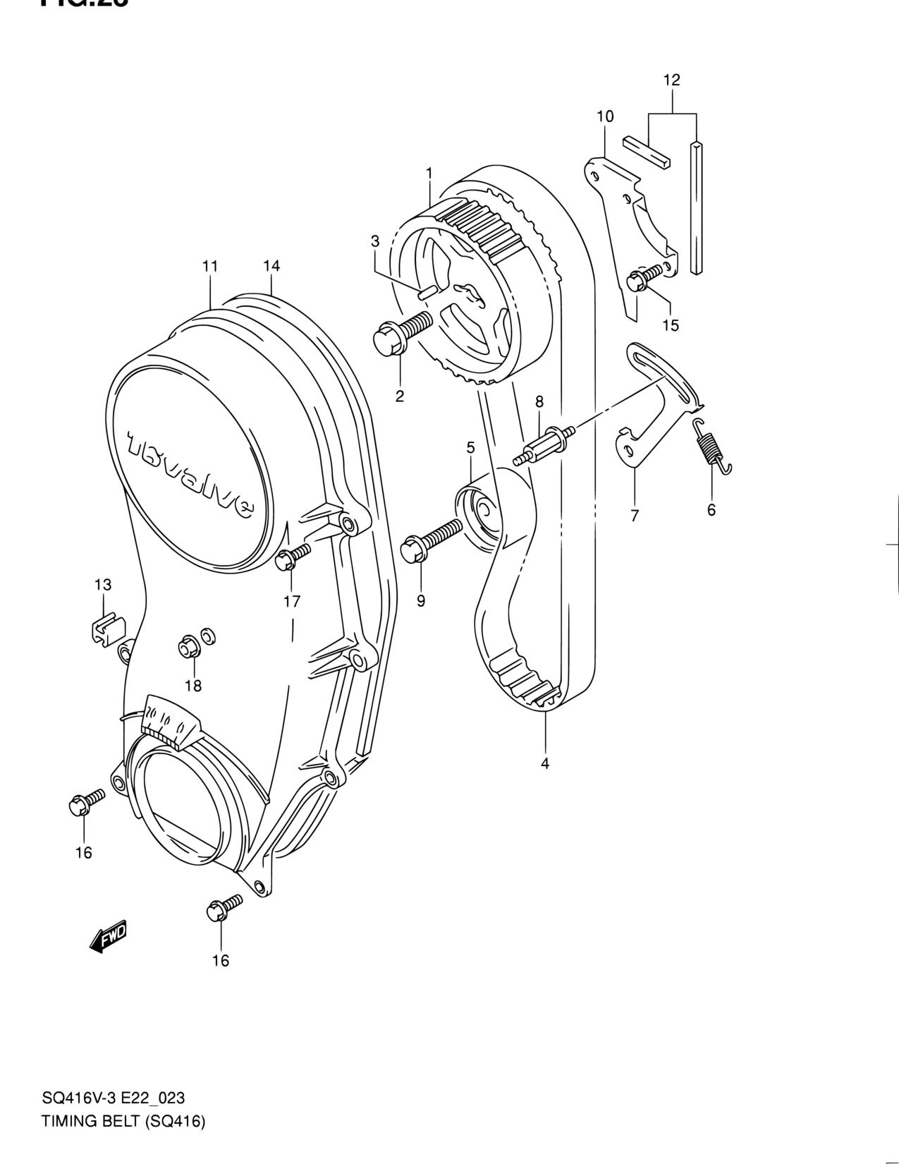 2007 Suzuki Forenza Timing Belt Diagram For Reno All Regions Grand Vitara Engine 1275x1650