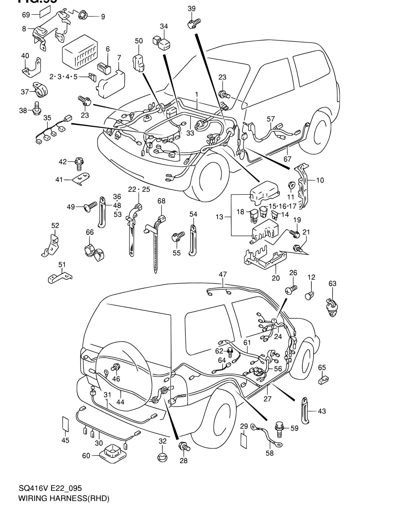 Light Fuse 1992 Suzuki Vitara Sidekick Wiring Harness Pacific Grand Electrical Rhd 1275x1650